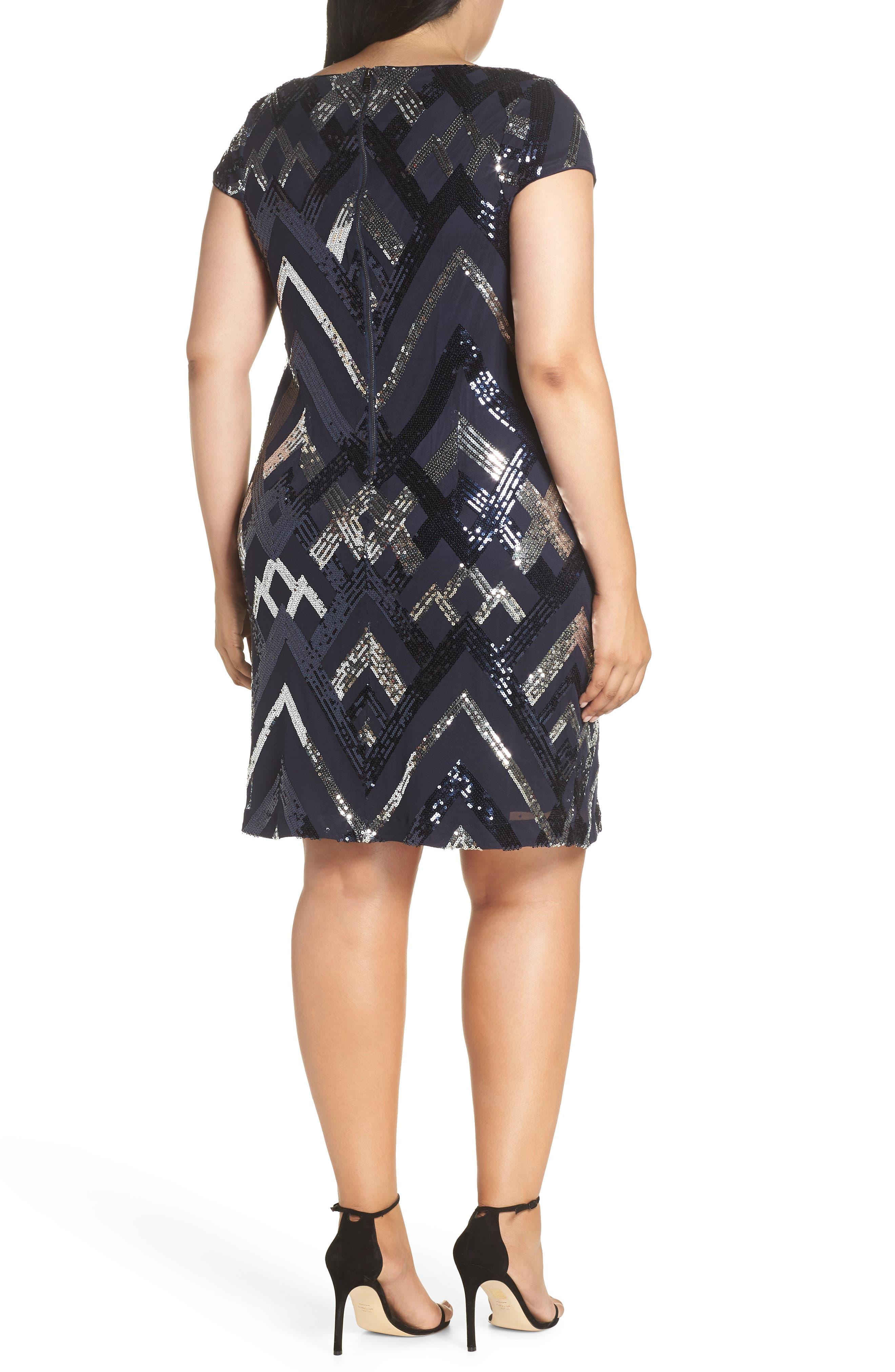 Sequin Cap Sleeve Sheath Dress,                             Alternate thumbnail 2, color,                             470