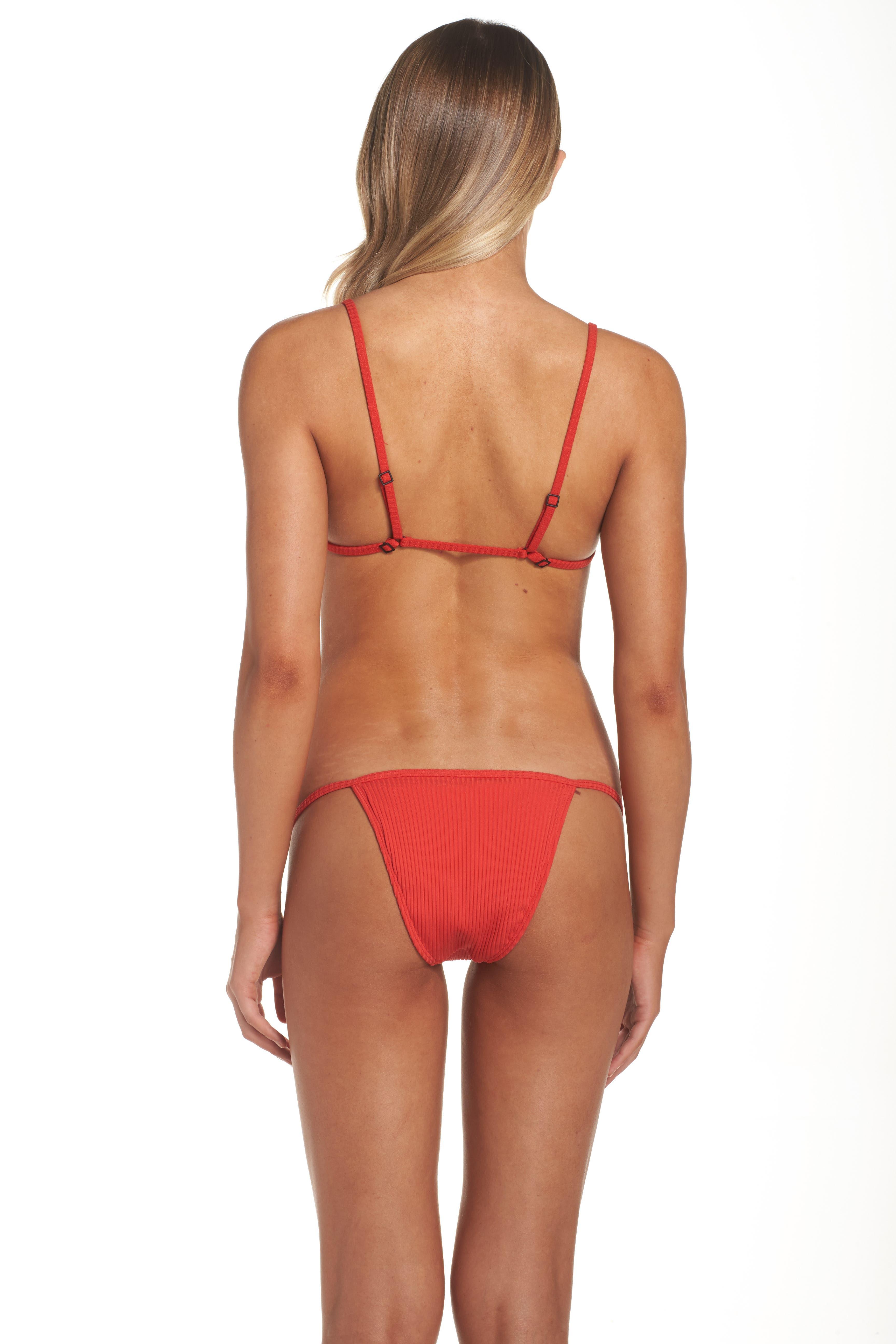The Mirage Ribbed Bikini Top,                             Alternate thumbnail 8, color,