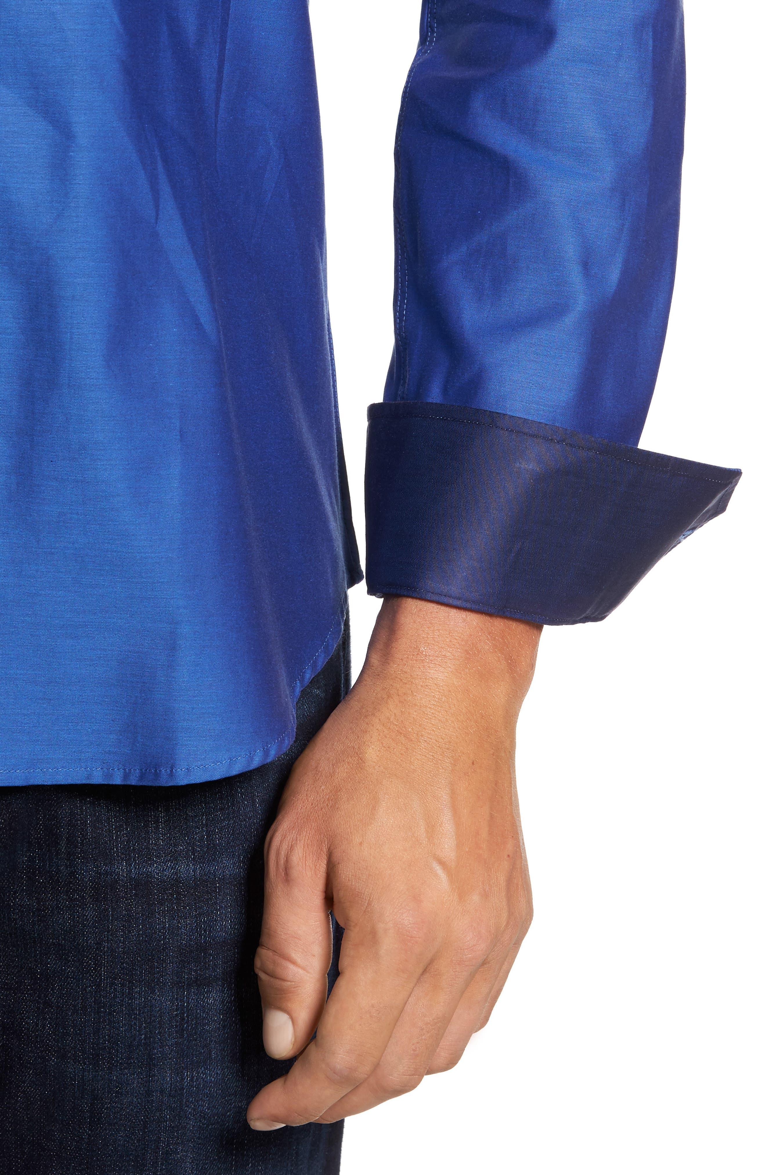 Trim Fit Solid Sport Shirt,                             Alternate thumbnail 16, color,