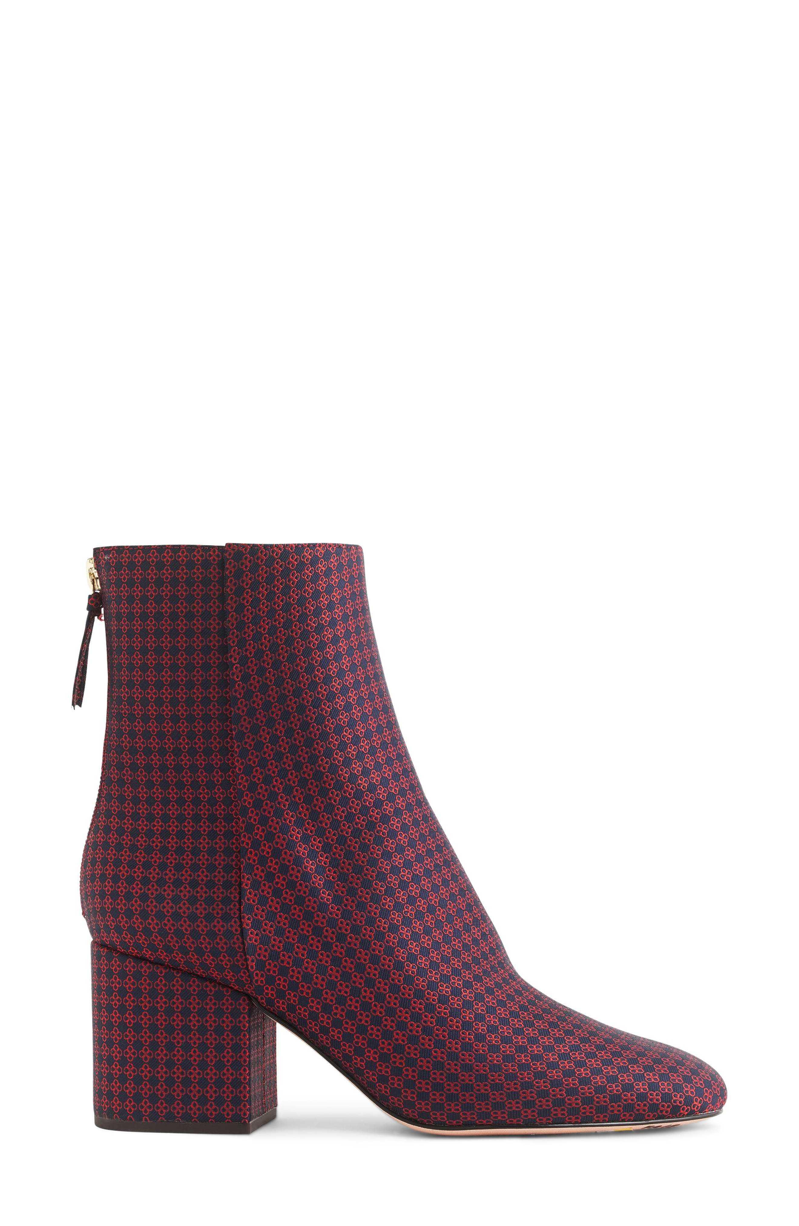 Maya Ankle Bootie,                             Alternate thumbnail 2, color,                             NAVY/ RED PLAID