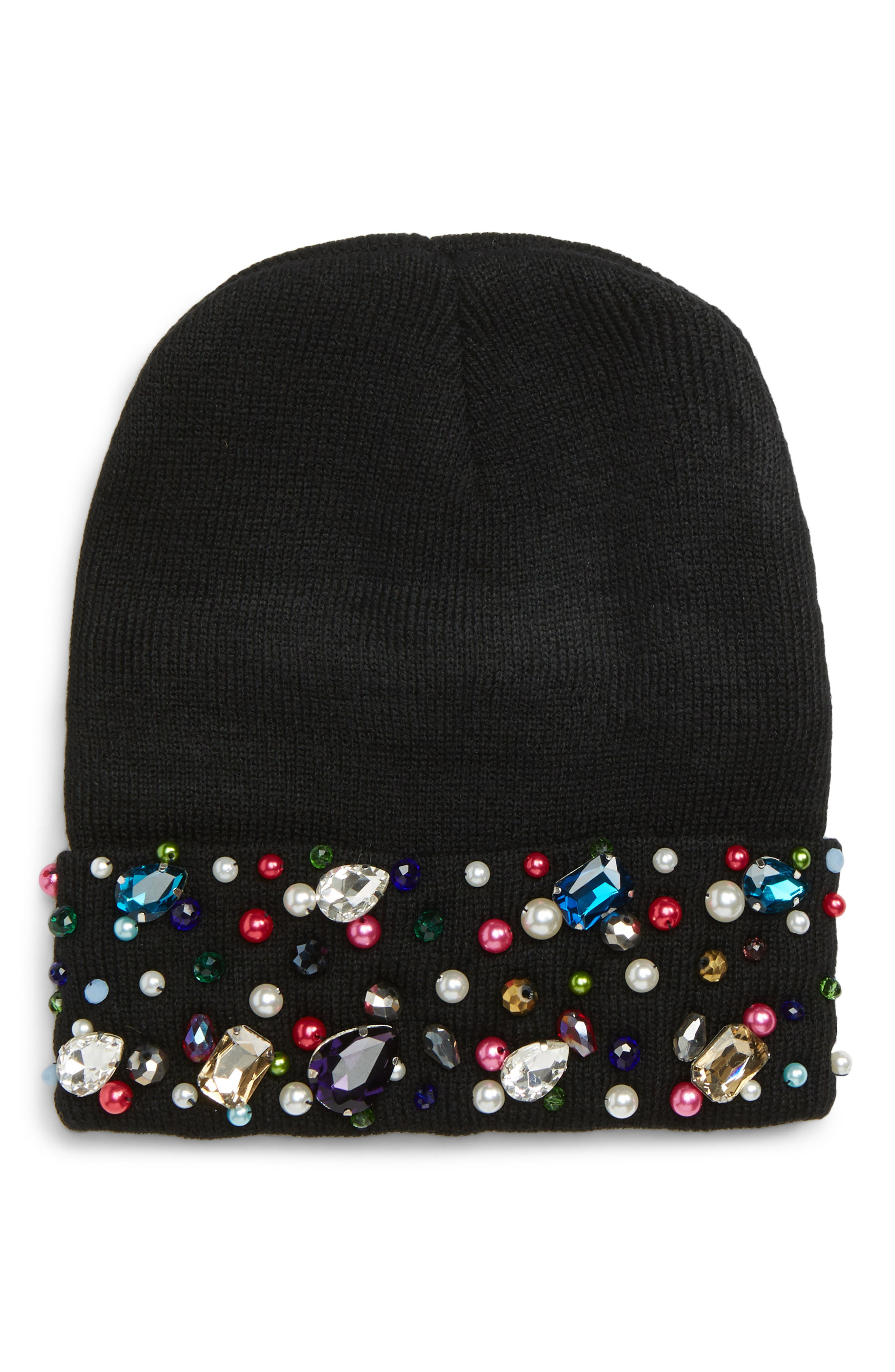 Natasha Crystal Beanie,                         Main,                         color, 001