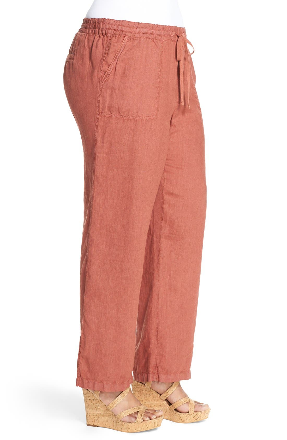 Drawstring Linen Pants,                             Alternate thumbnail 39, color,