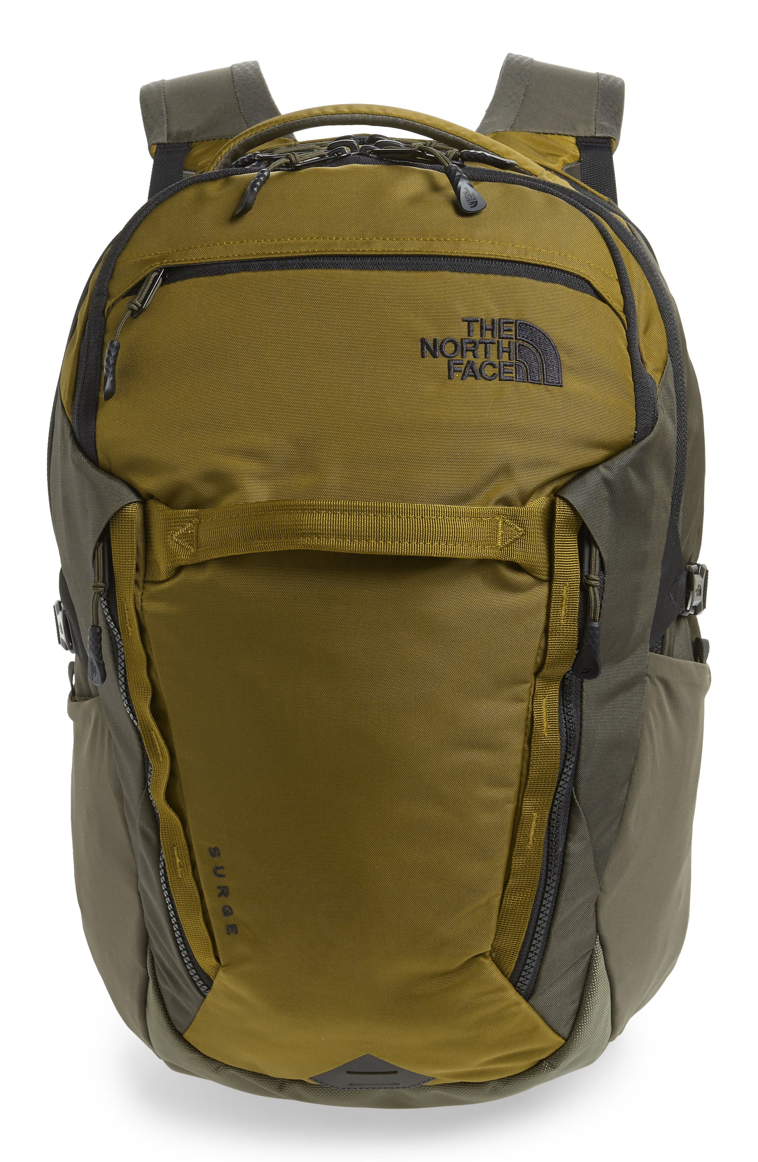 Surge Backpack,                             Main thumbnail 1, color,                             FIR GREEN/ NEW TAUPE GREEN
