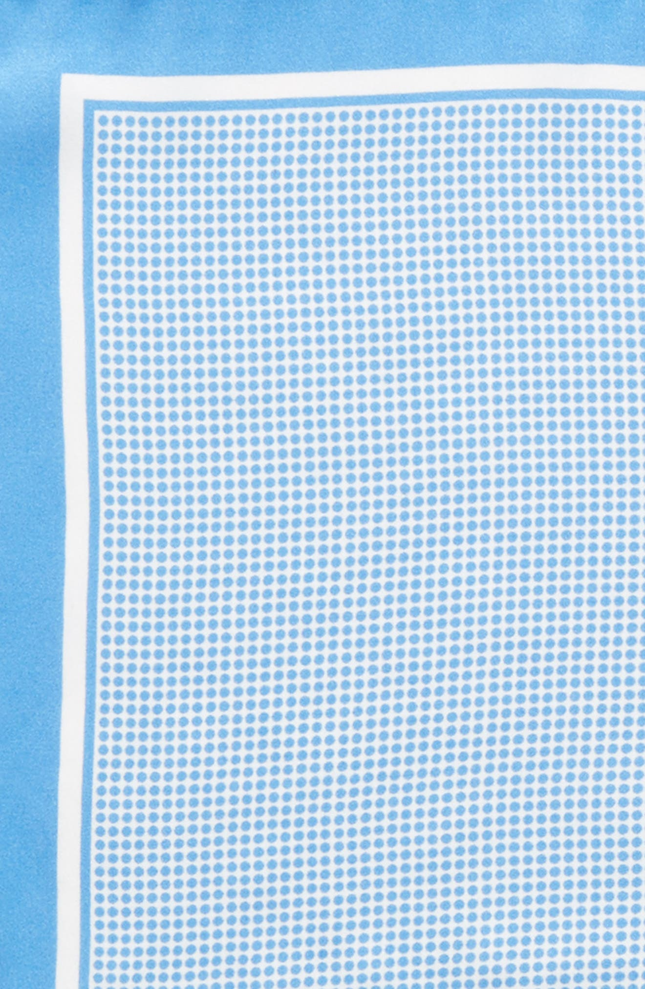 Dot Silk Pocket Square,                             Alternate thumbnail 3, color,                             458