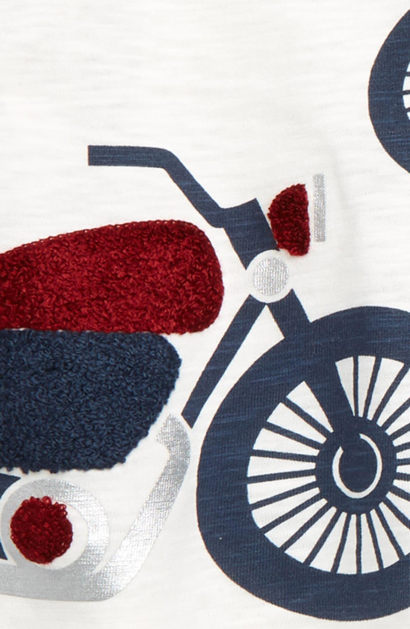 LITTLE ME,                             Motorcycle T-Shirt, Stripe T-Shirt & Jogger Pants Set,                             Alternate thumbnail 2, color,                             GREY HEATHER MULTI