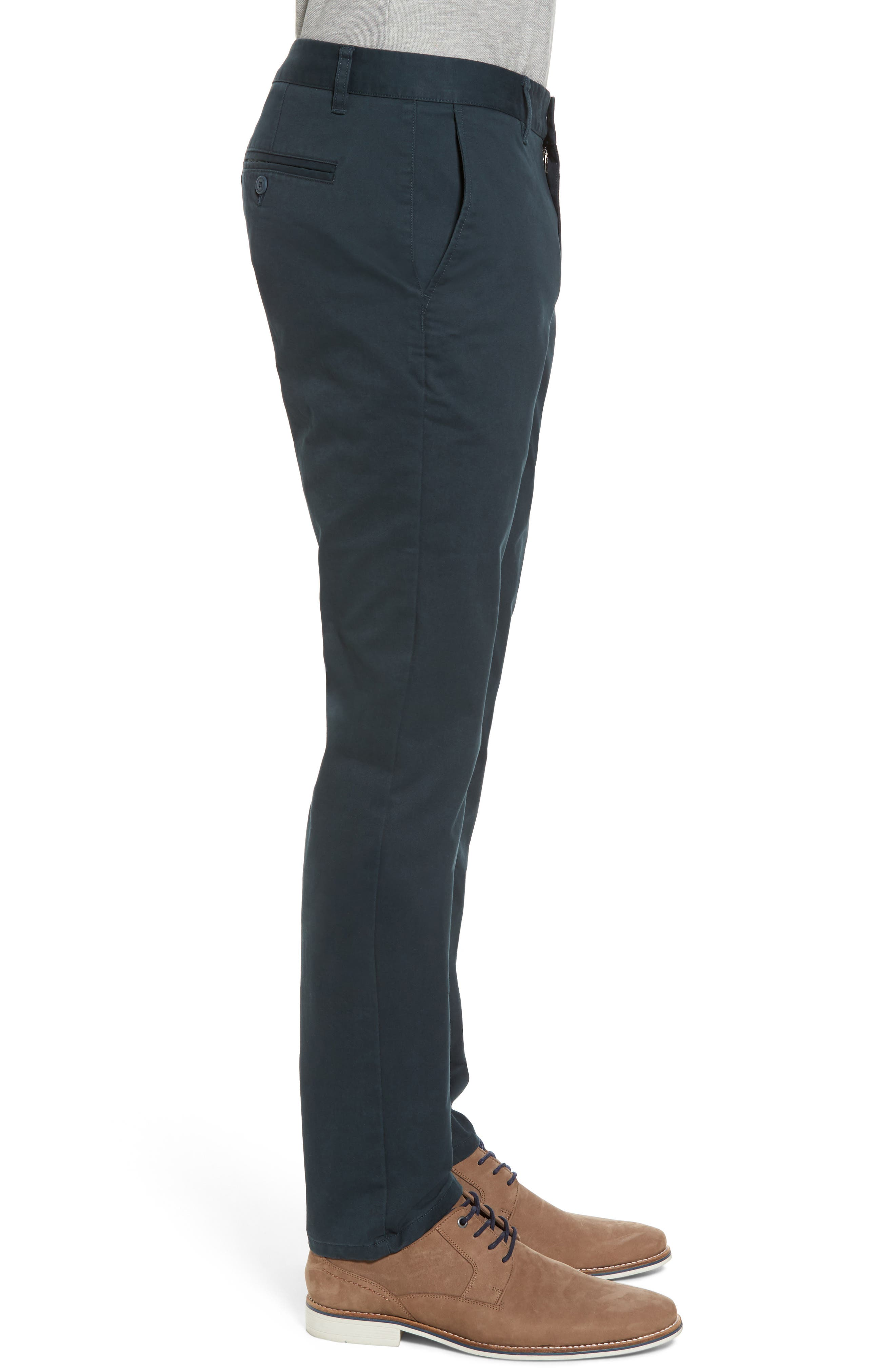 Tailored Fit Washed Stretch Cotton Chinos,                             Alternate thumbnail 87, color,