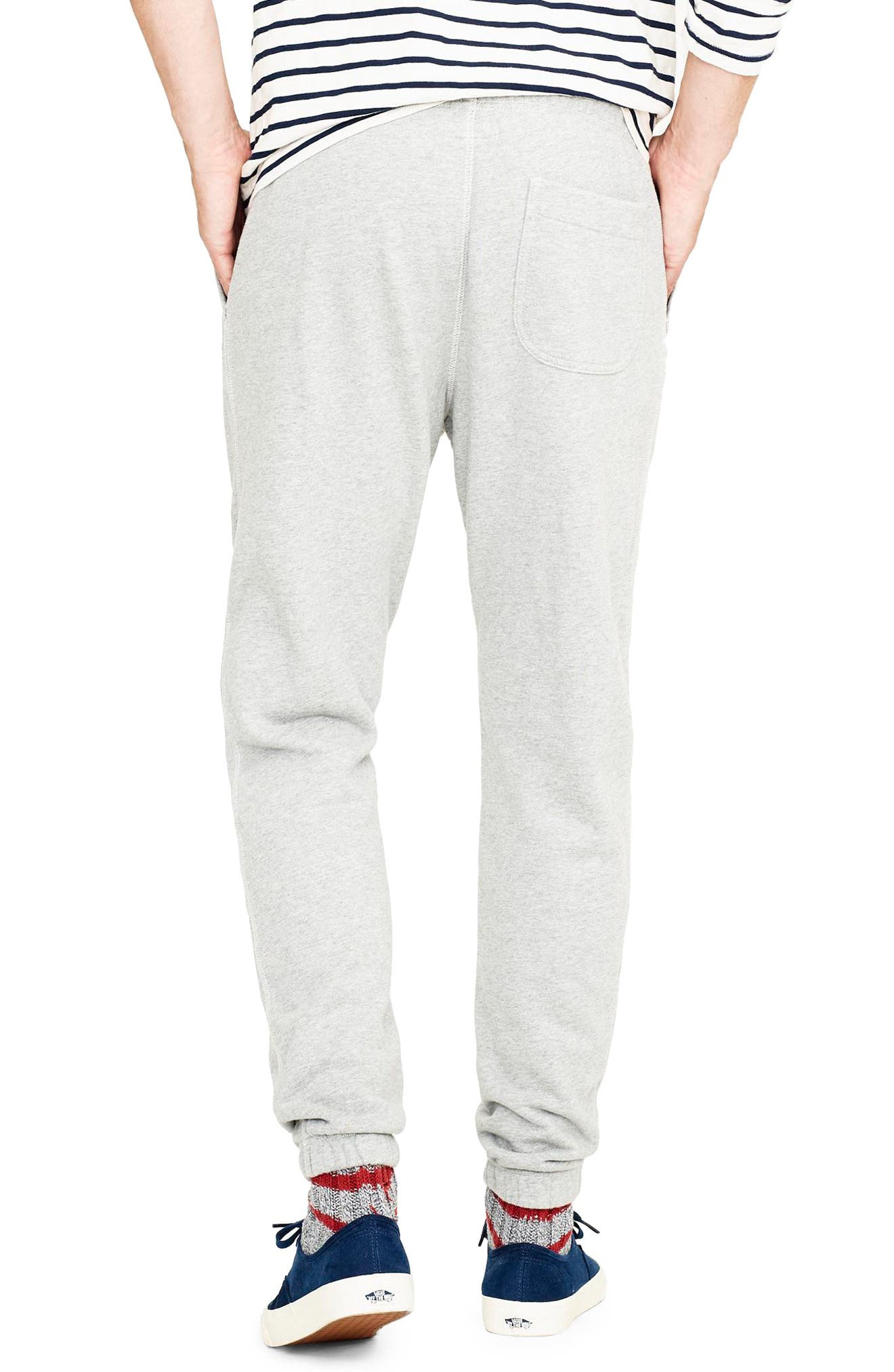 French Terry Sweatpants,                             Alternate thumbnail 2, color,                             HEATHER GREY