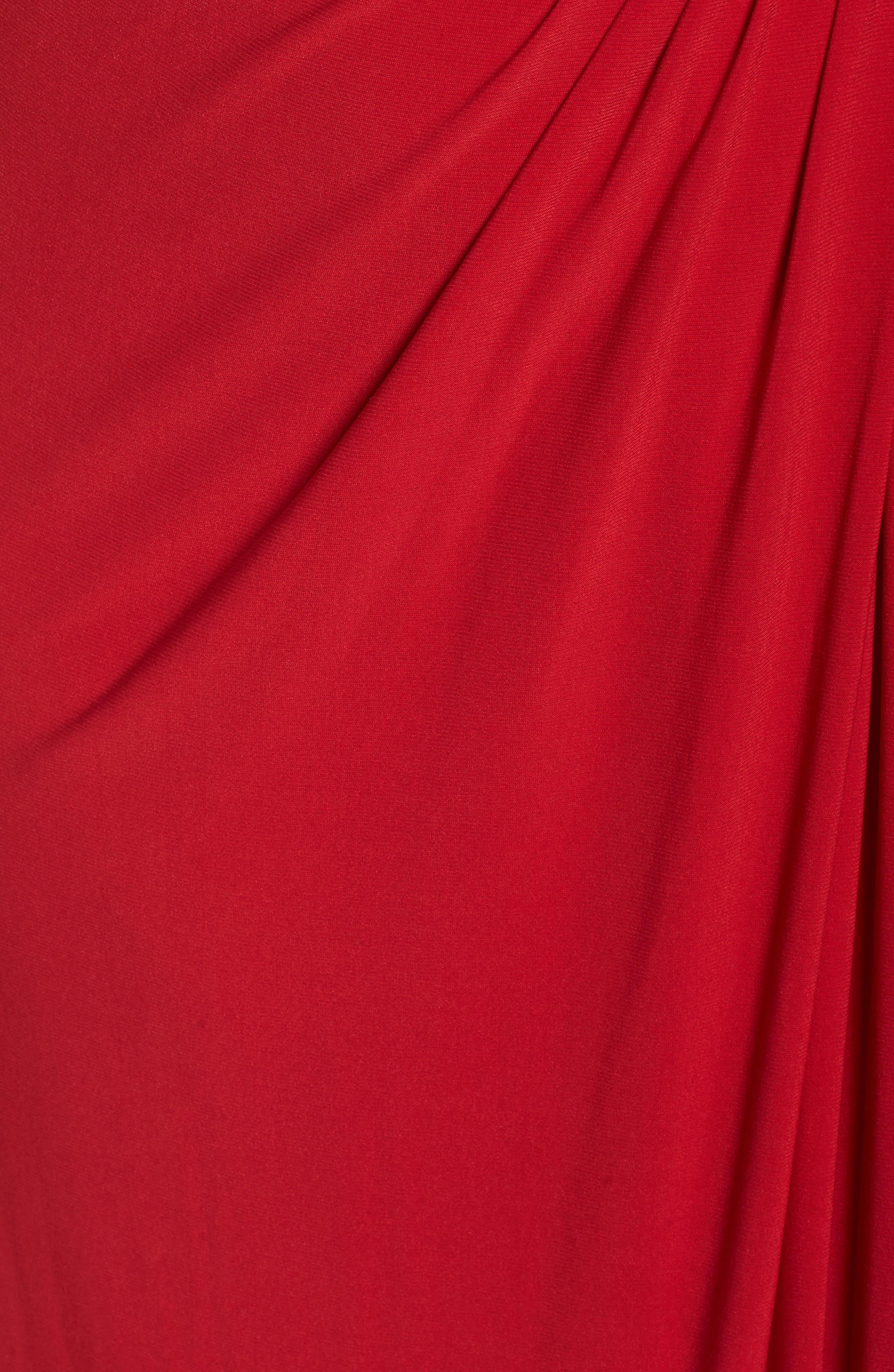 Embellished Shoulder Jersey Gown,                             Alternate thumbnail 10, color,