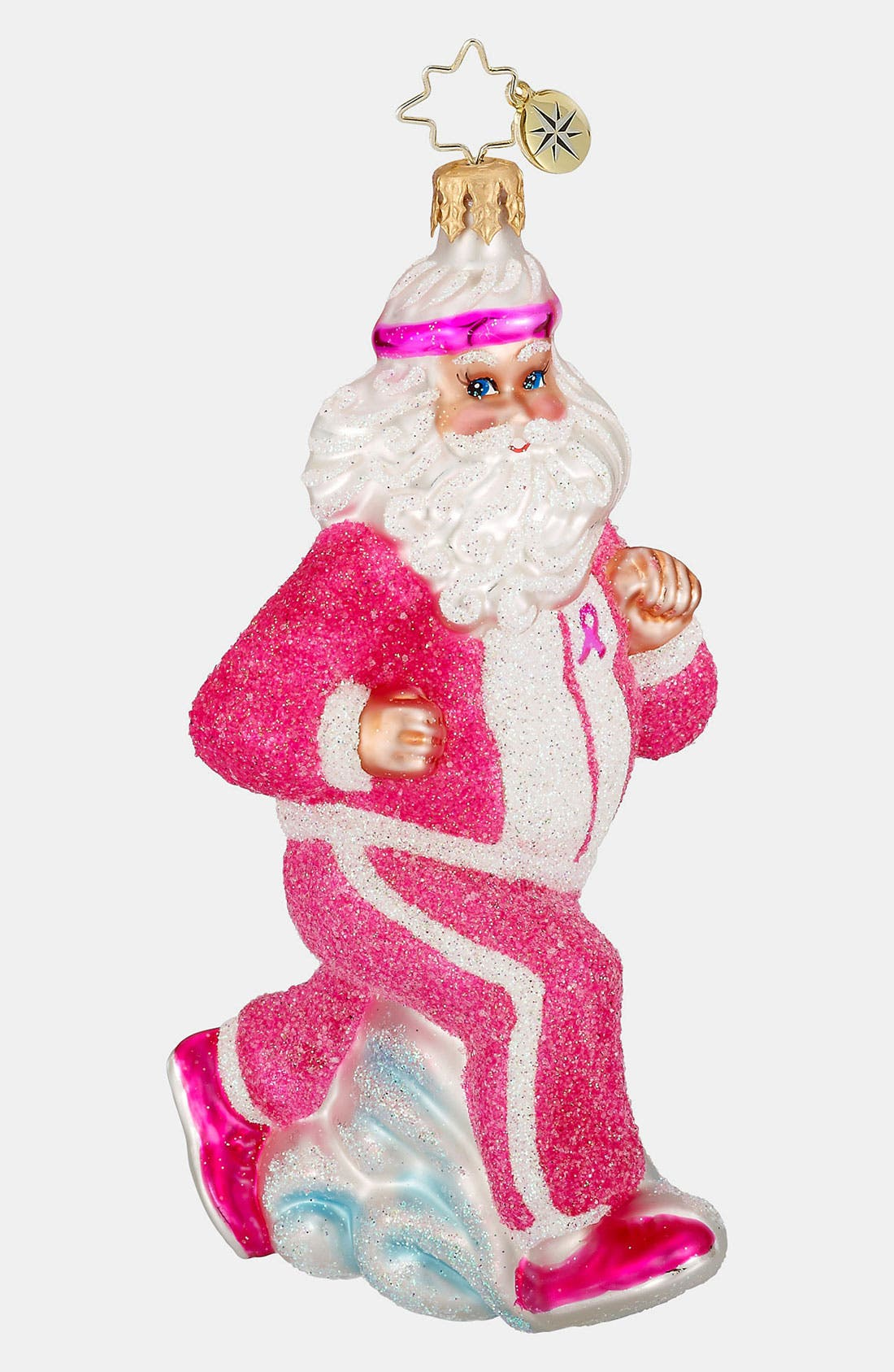 CHRISTOPHER RADKO 'Pink Power Walk' Ornament, Main, color, 960