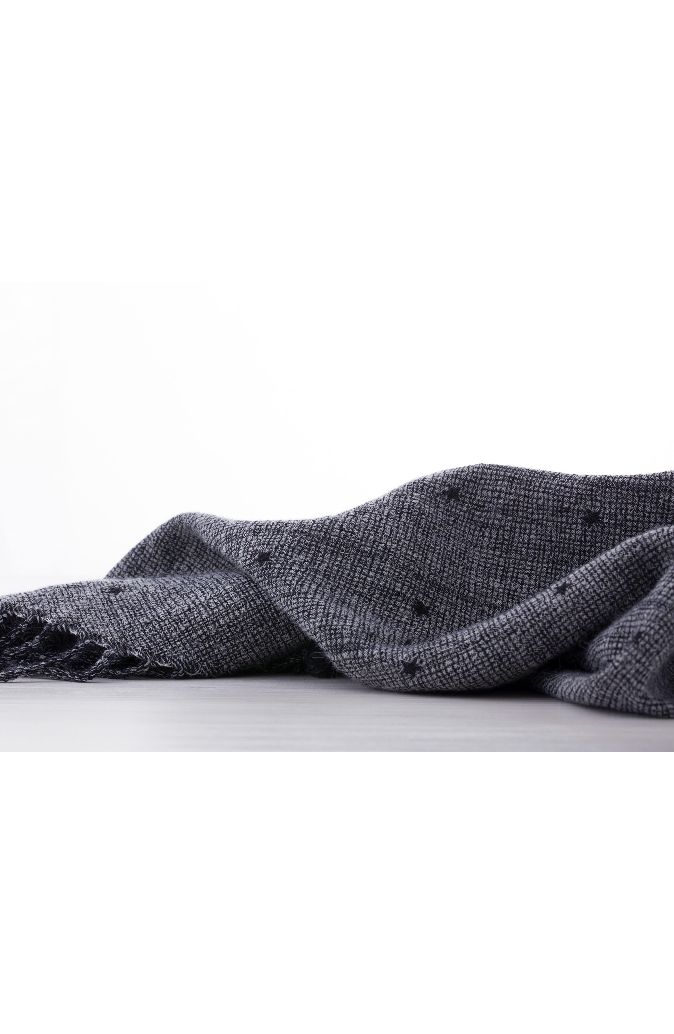 Blackstar Double Face Merino Wool Throw,                             Alternate thumbnail 3, color,                             BLACKSTAR