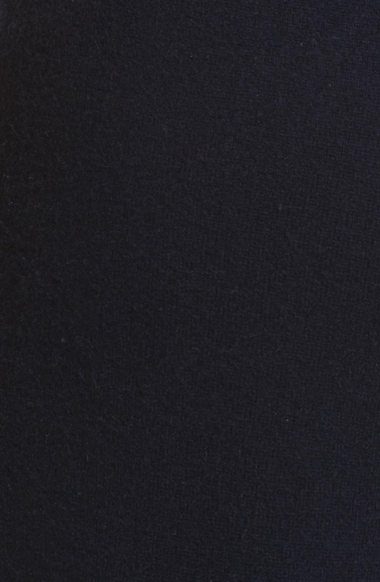 Wide Leg Wool & Cashmere Knit Crop Pants,                             Alternate thumbnail 6, color,                             403