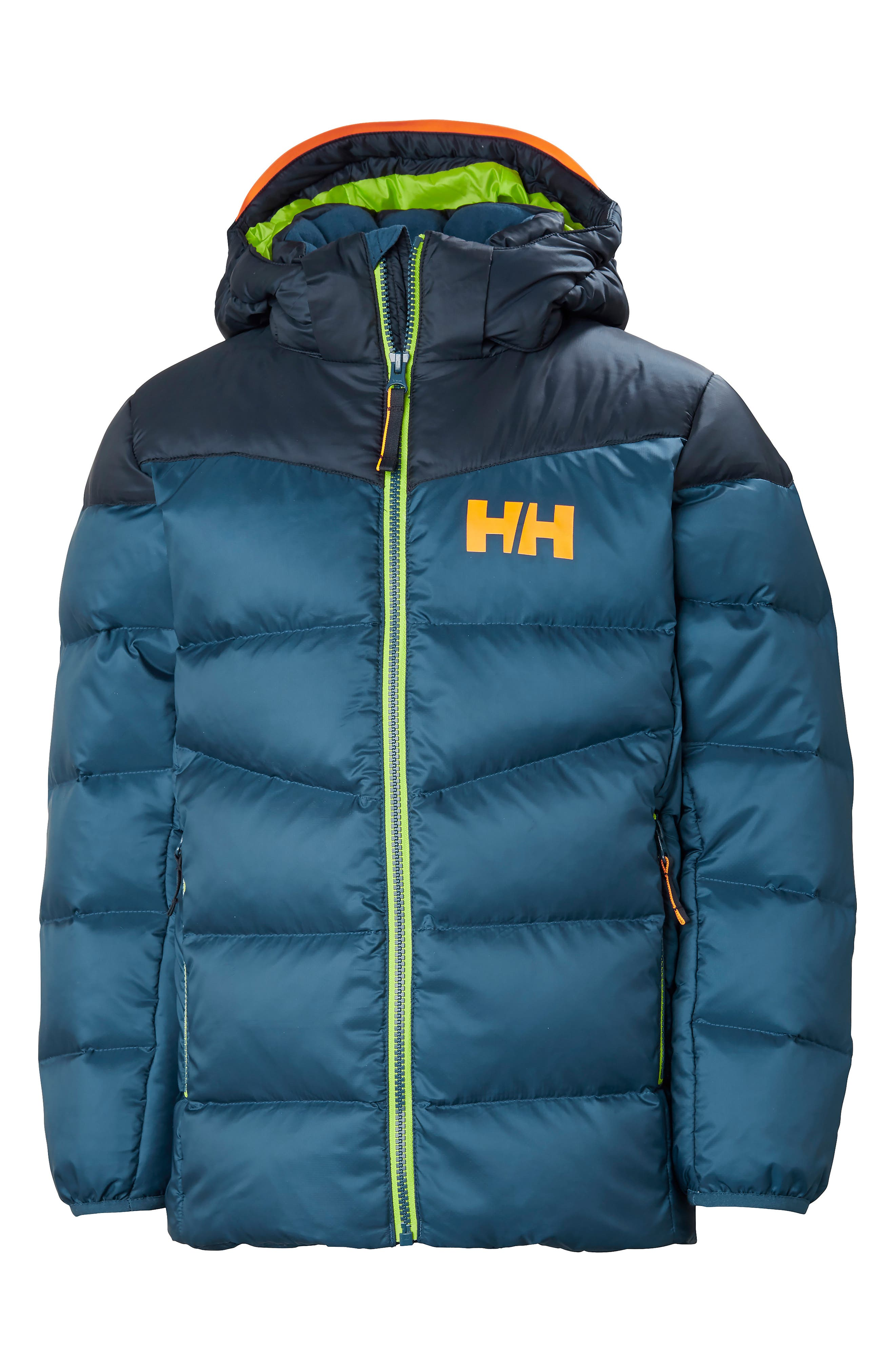Fjord Water Resistant Puffer Jacket,                         Main,                         color, DARK TEAL