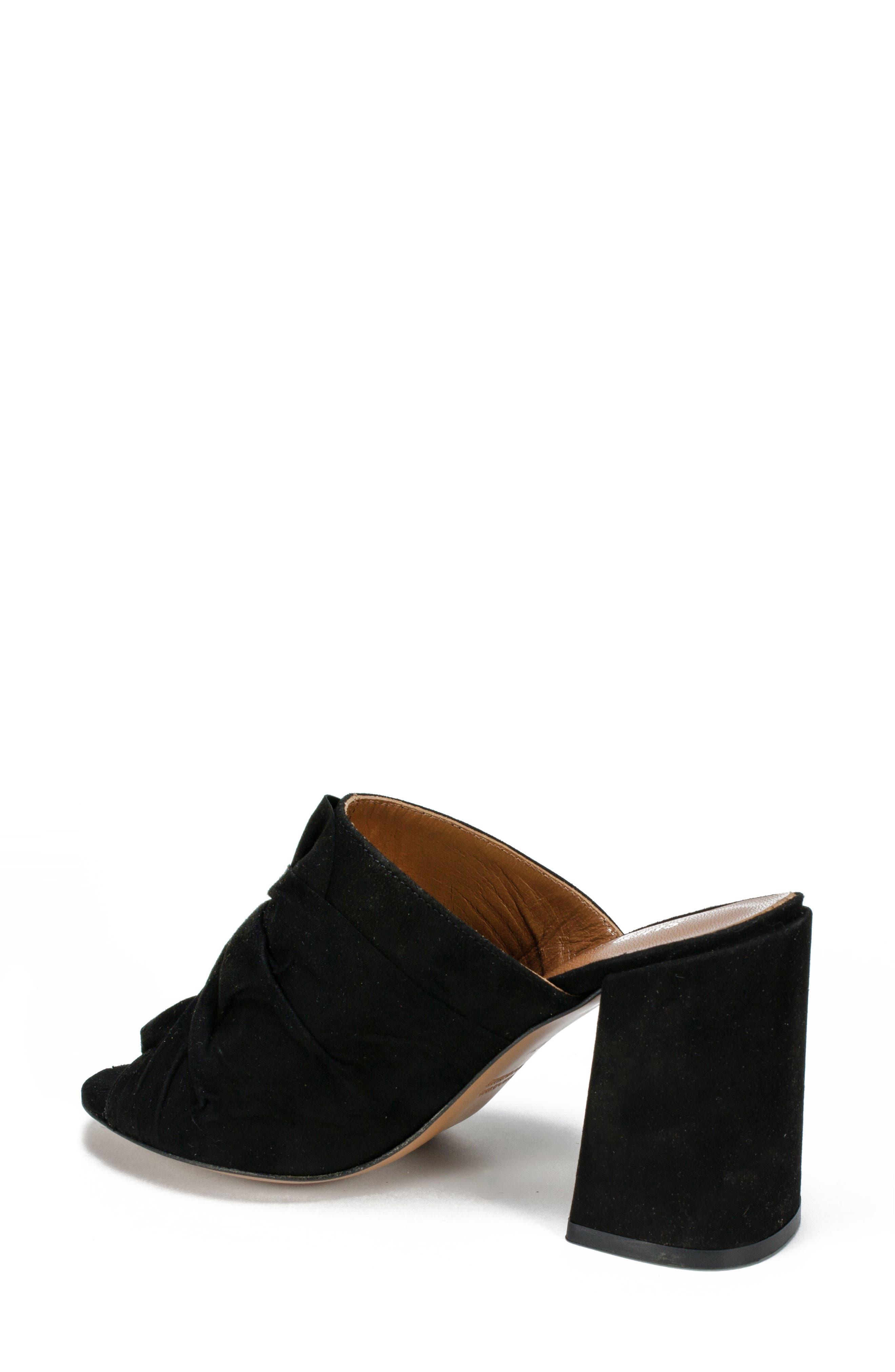Anya Block Heel Mule,                             Alternate thumbnail 2, color,                             BLACK SUEDE