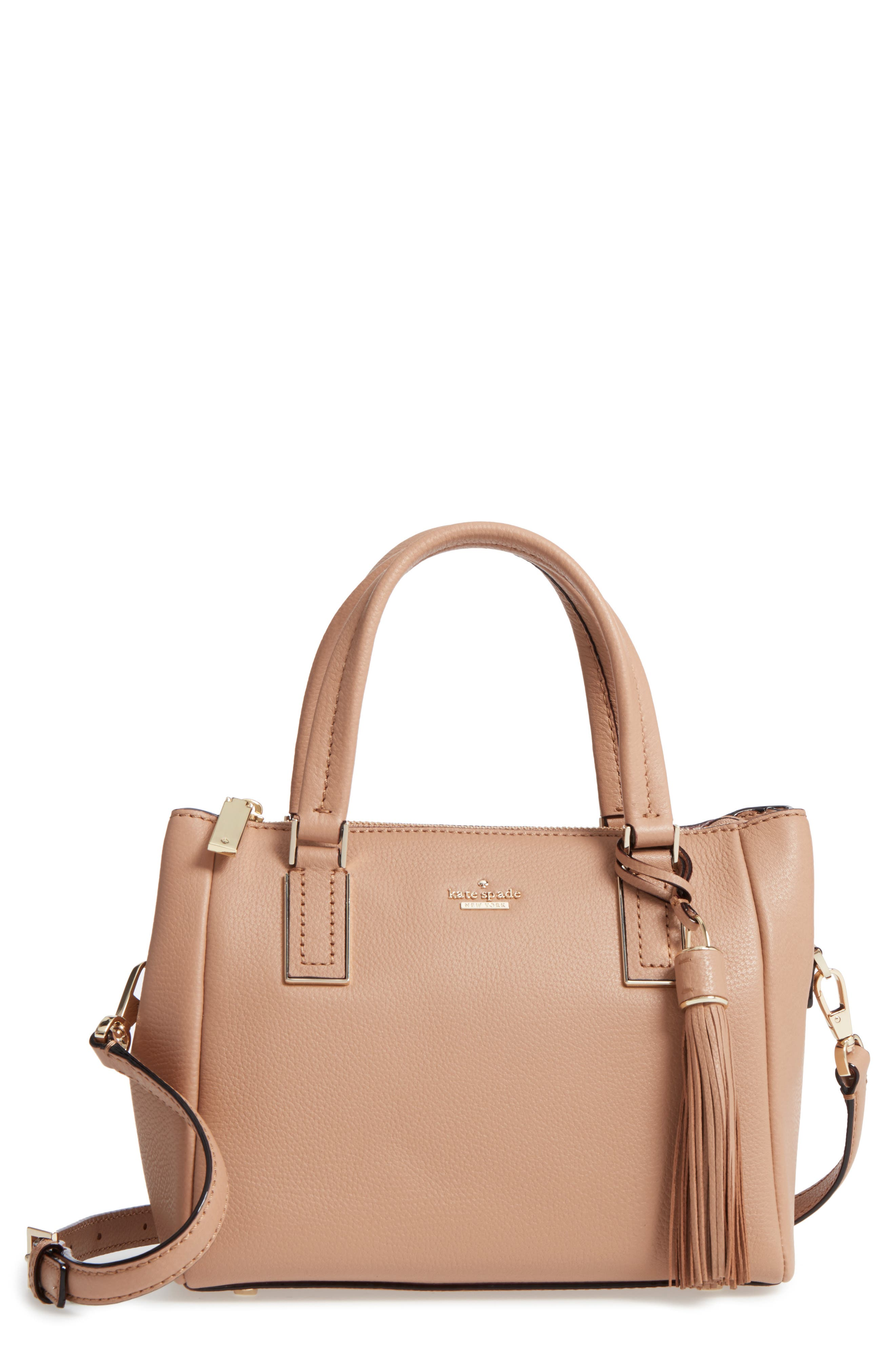 kingston drive - small alena leather satchel,                             Main thumbnail 3, color,