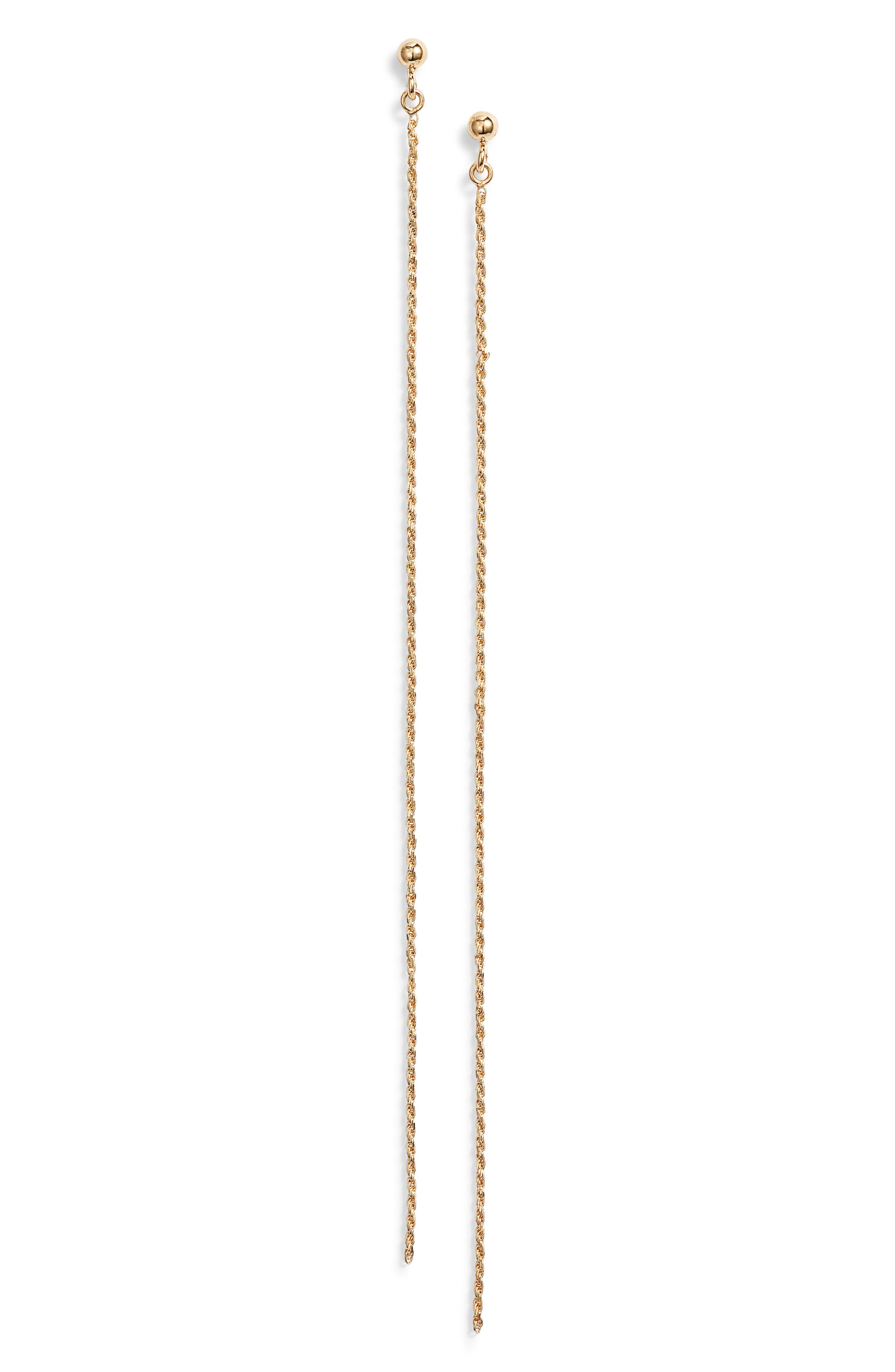 Chain Drop Earrings,                         Main,                         color, GOLD