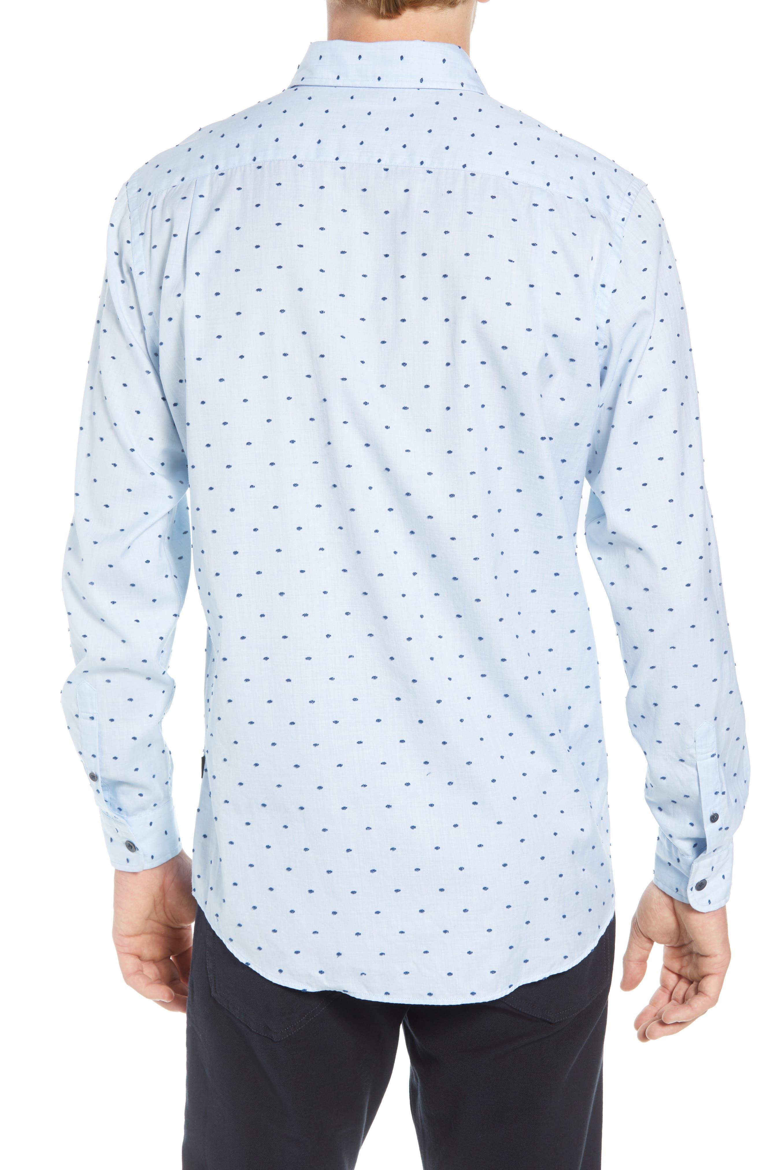 Fraser Road Regular Fit Dot Sport Shirt,                             Alternate thumbnail 3, color,                             459