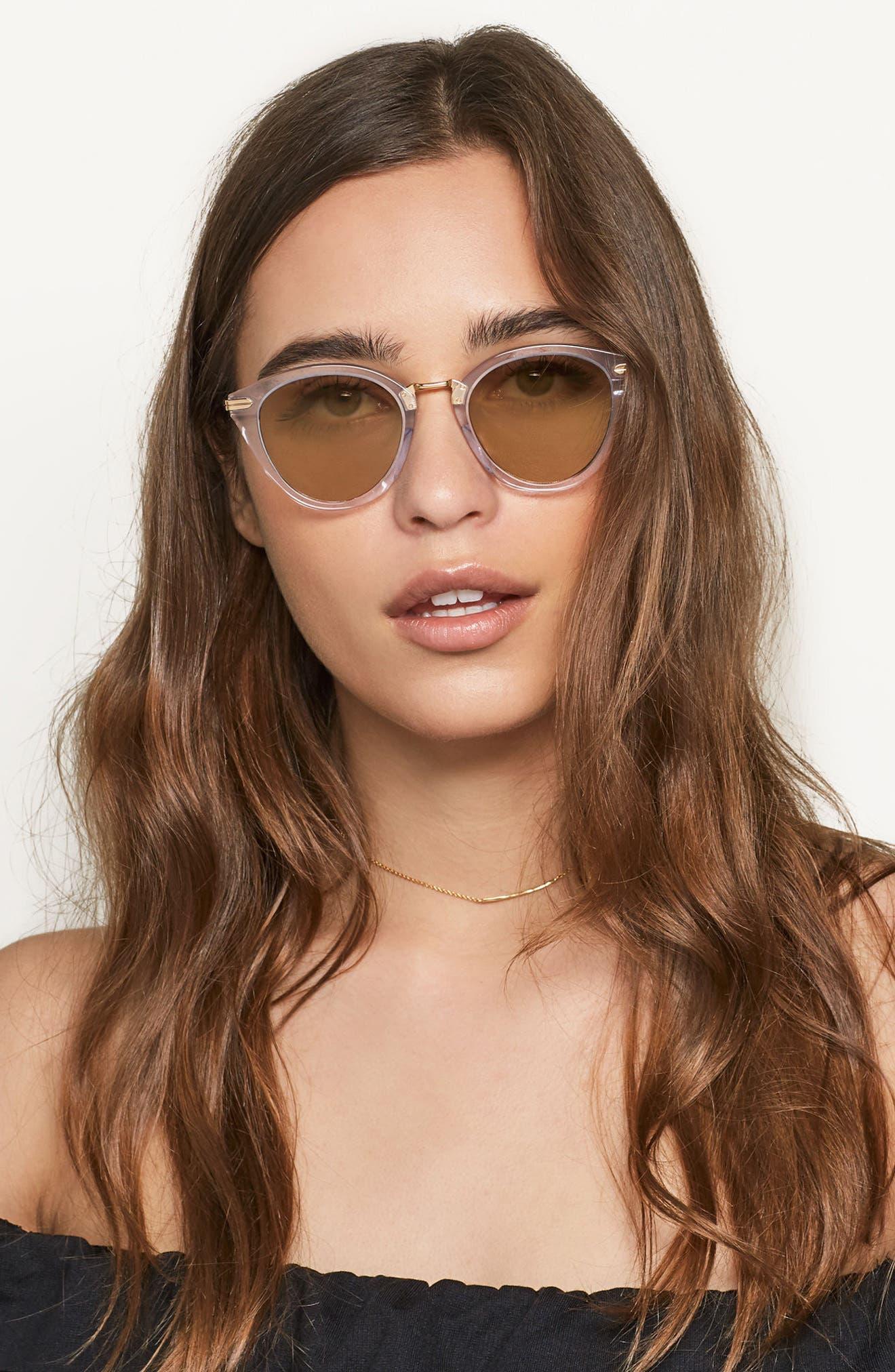 Quinn 48mm Cat Eye Sunglasses,                             Alternate thumbnail 18, color,