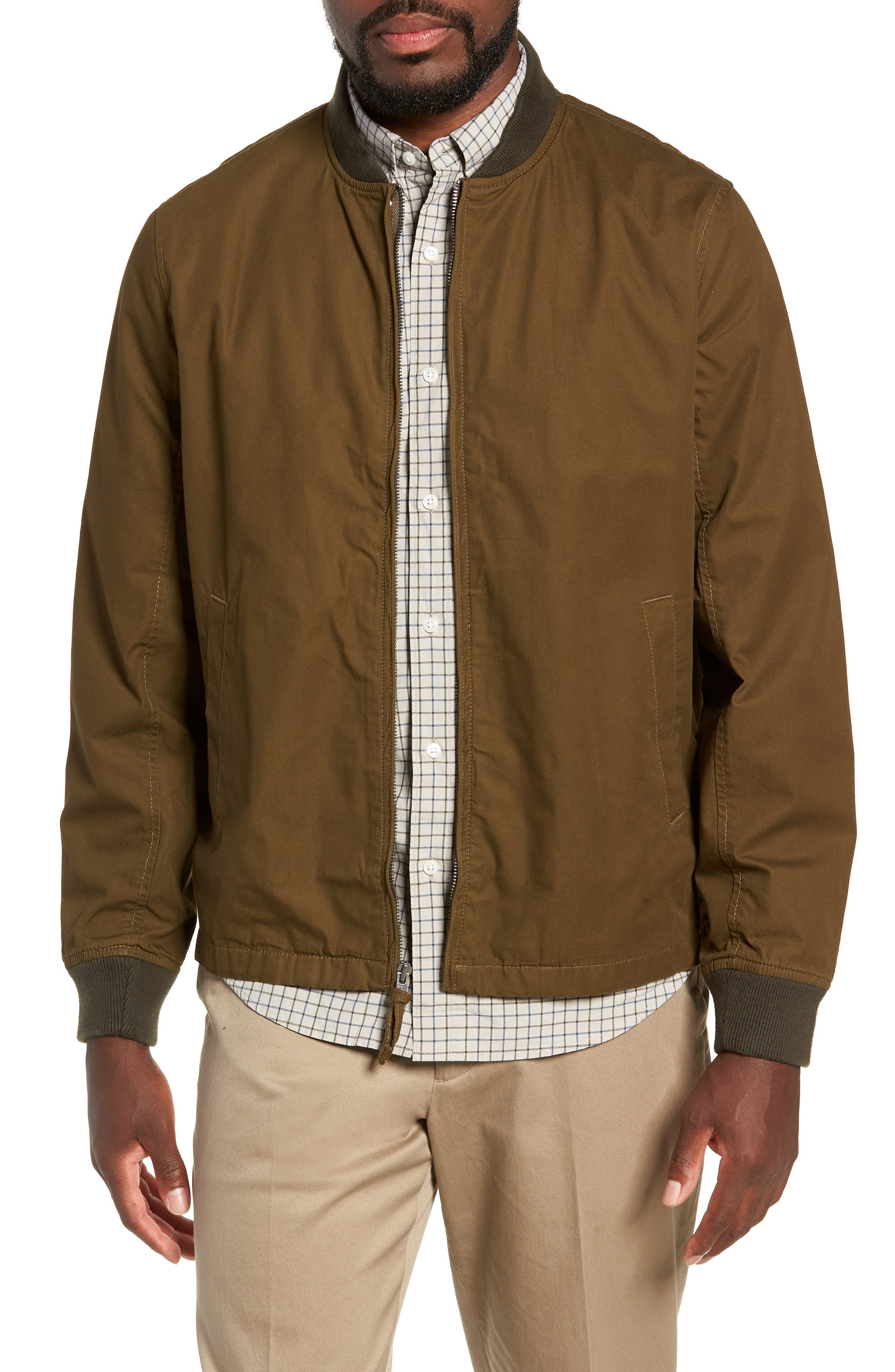 Relaxed Straight Hem Bomber Jacket,                         Main,                         color, 300