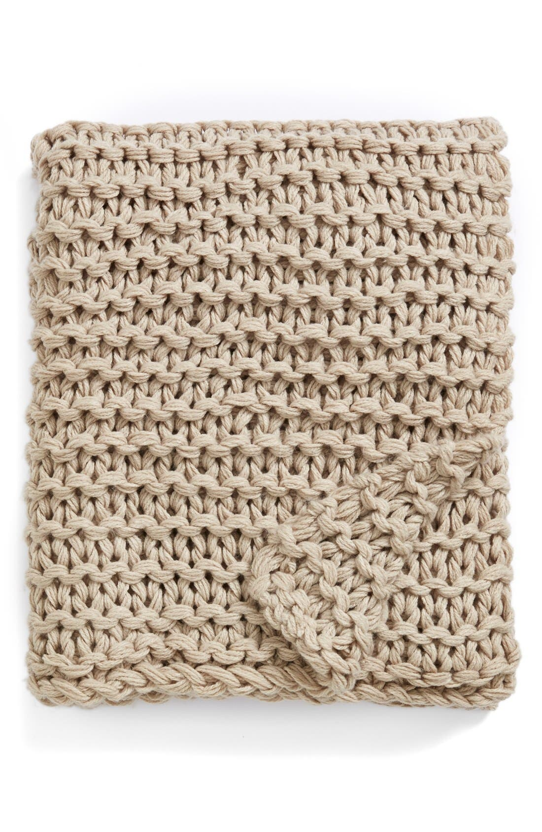 Chunky Knit Throw,                             Main thumbnail 1, color,                             200