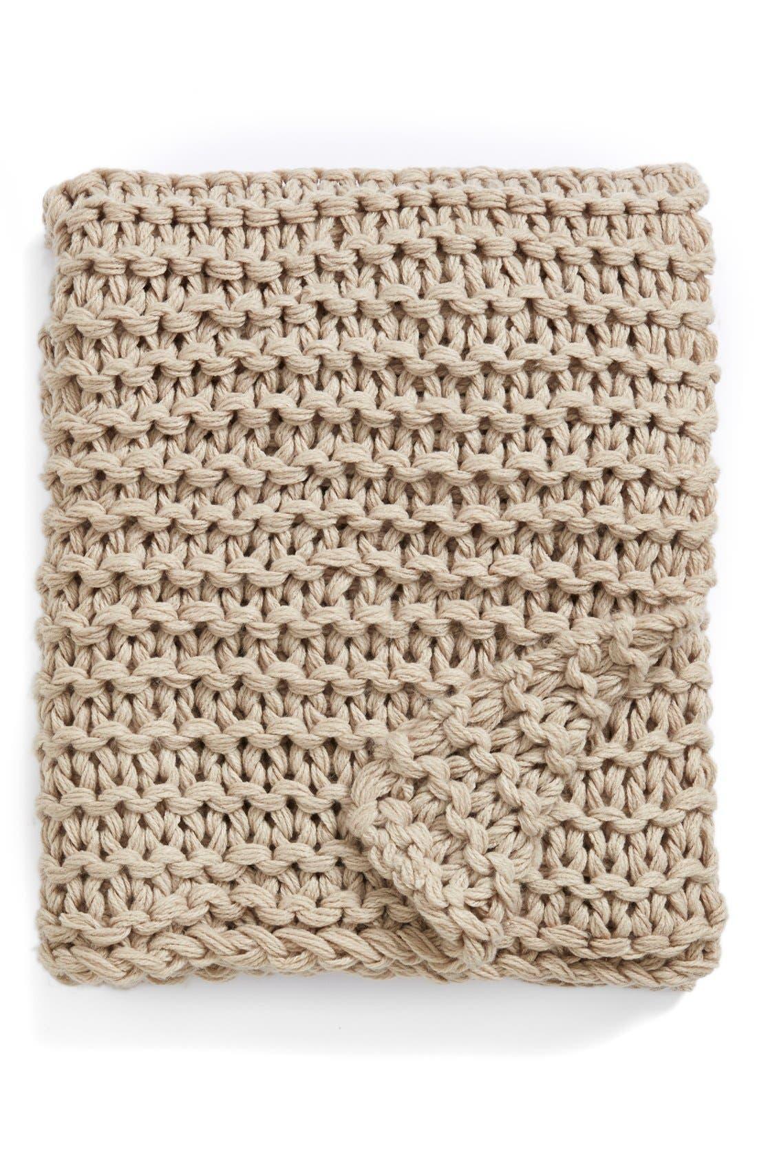 Chunky Knit Throw, Main, color, 200