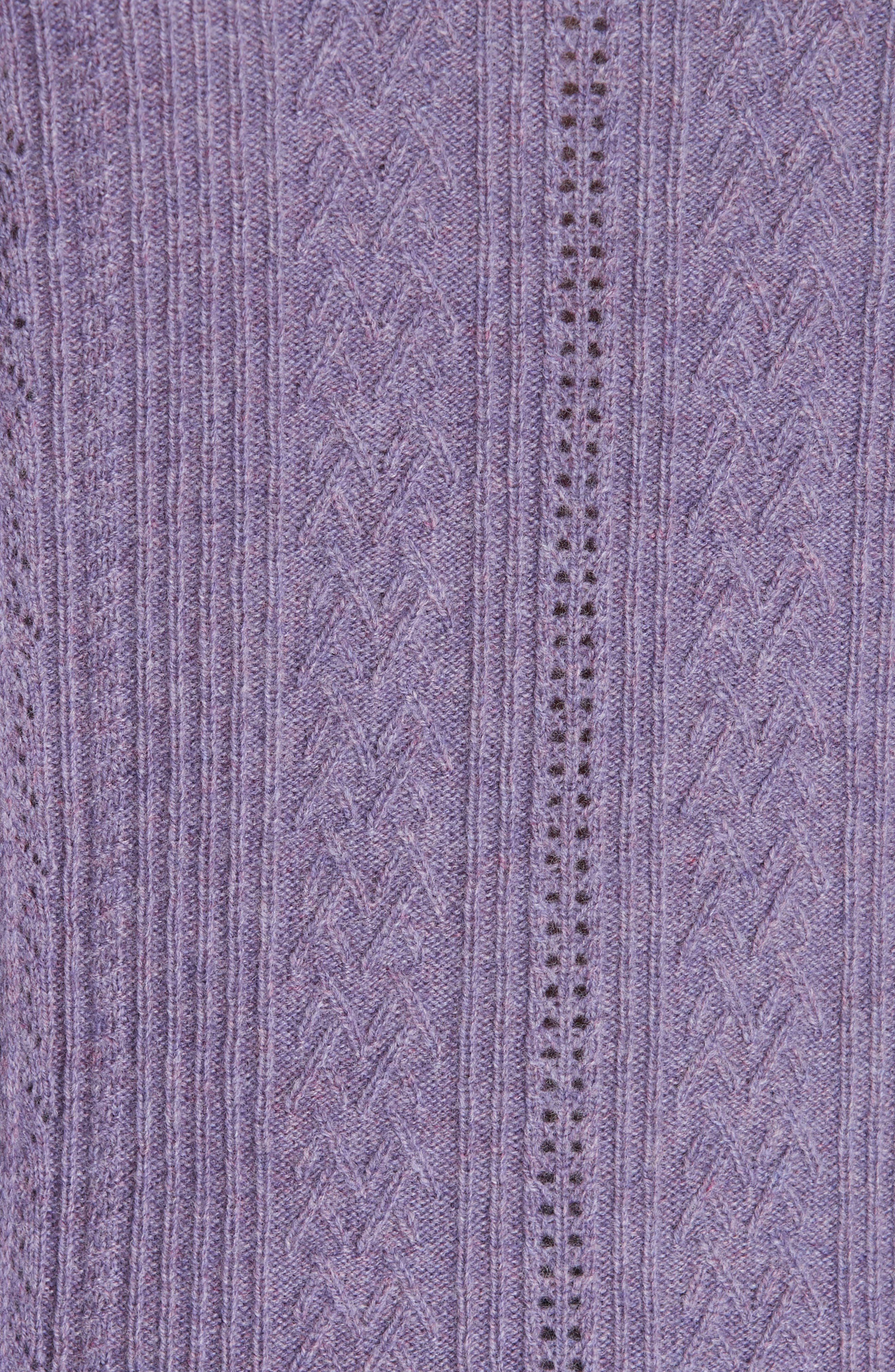 POLO RALPH LAUREN,                             Ruffle Detail Pointelle Sweater,                             Alternate thumbnail 5, color,                             500