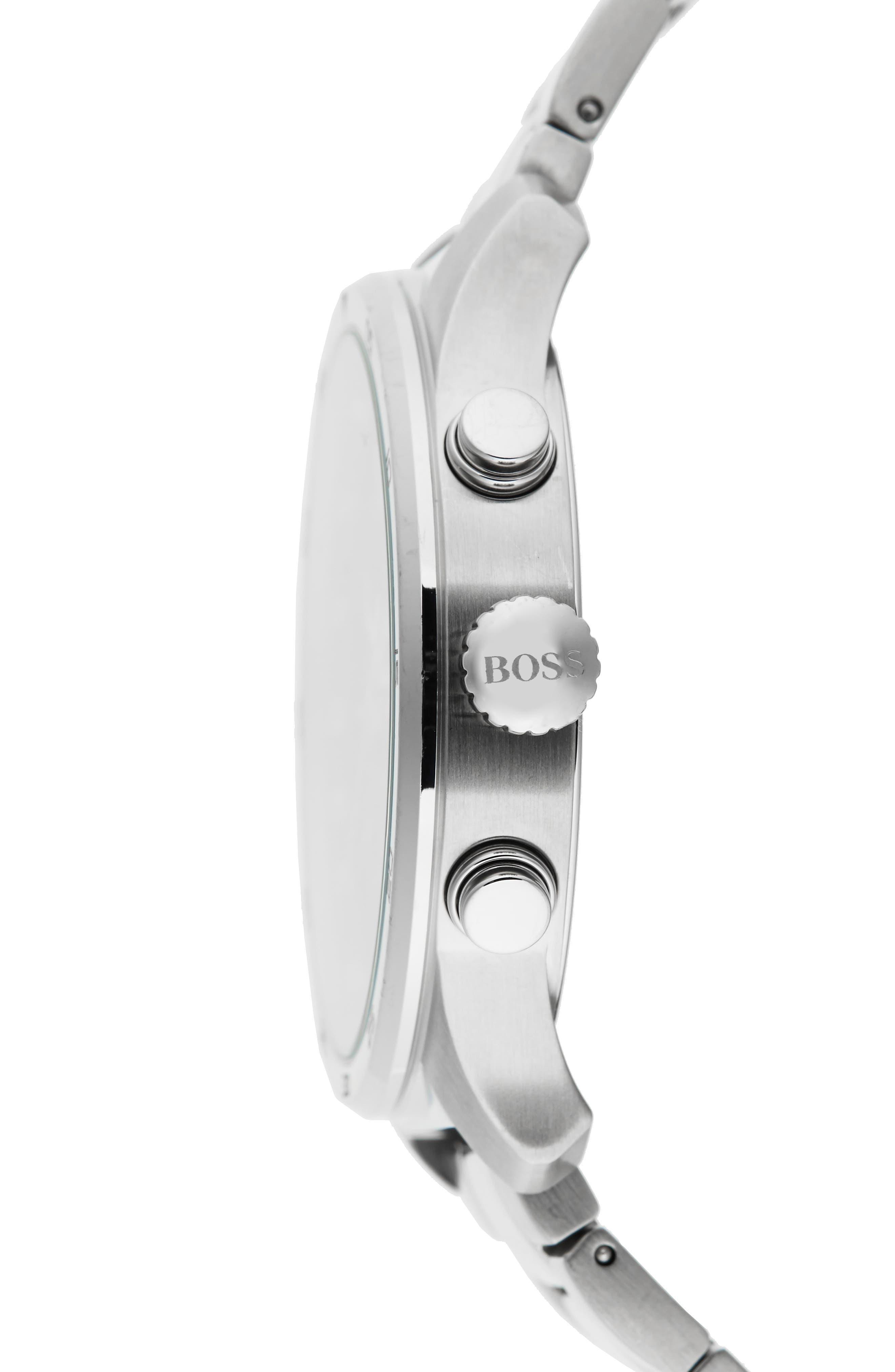 Professional Chronograph Bracelet Watch, 42mm,                             Alternate thumbnail 3, color,                             460
