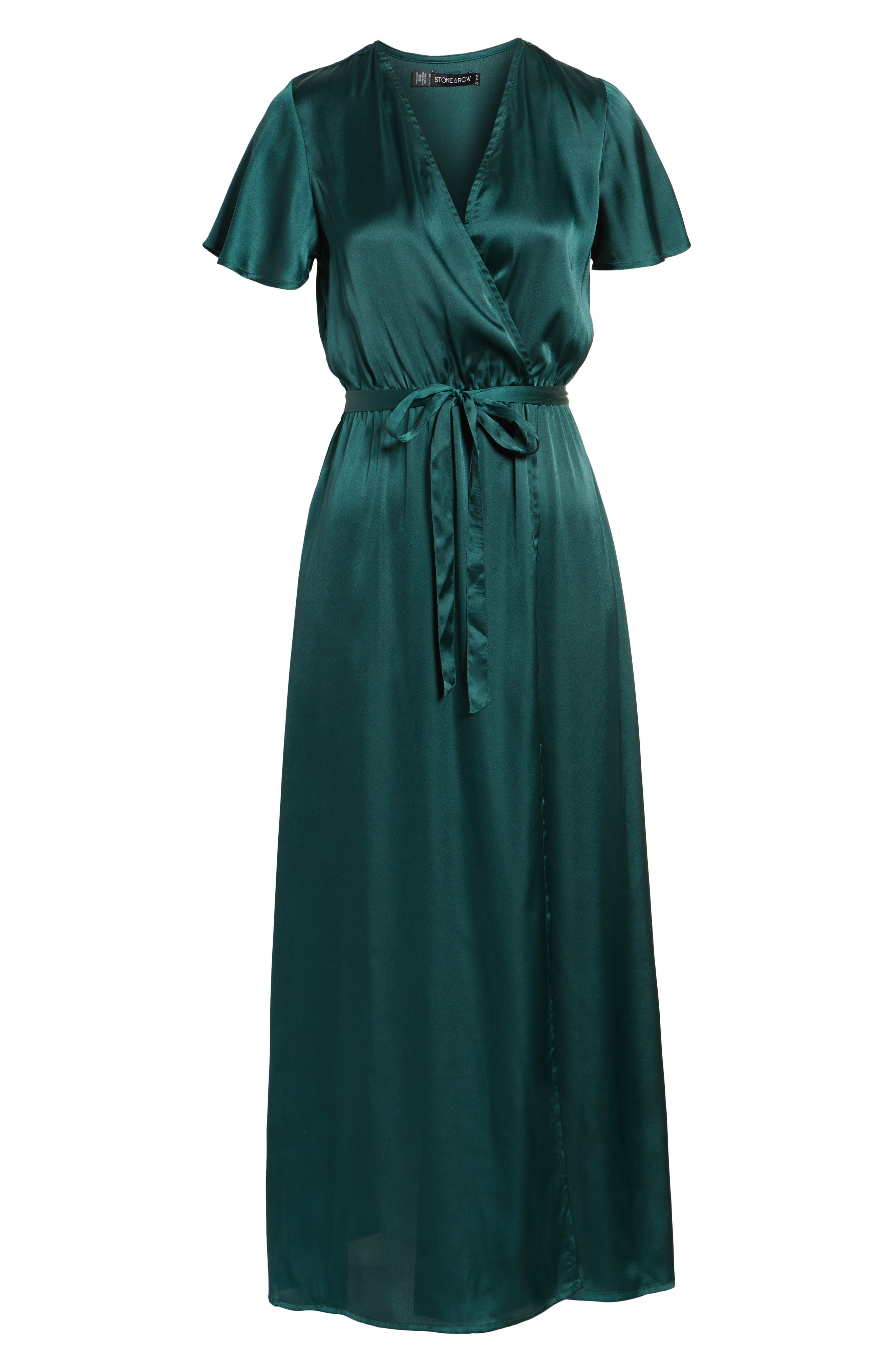 EZ Days Satin Wrap Maxi Dress,                             Alternate thumbnail 7, color,                             300