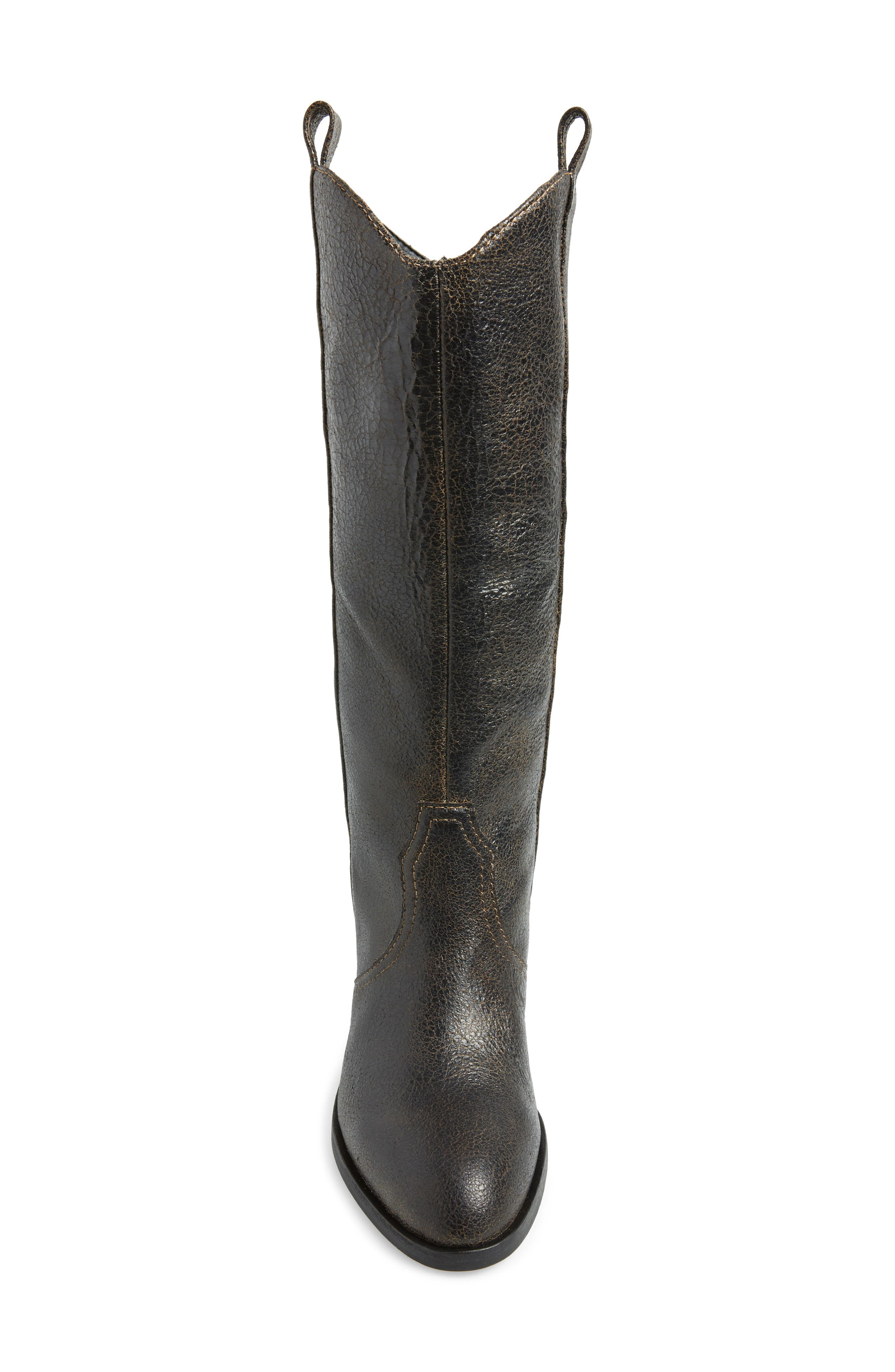 Riot Western Boot,                             Alternate thumbnail 4, color,                             BLACK VINTAGE LEATHER