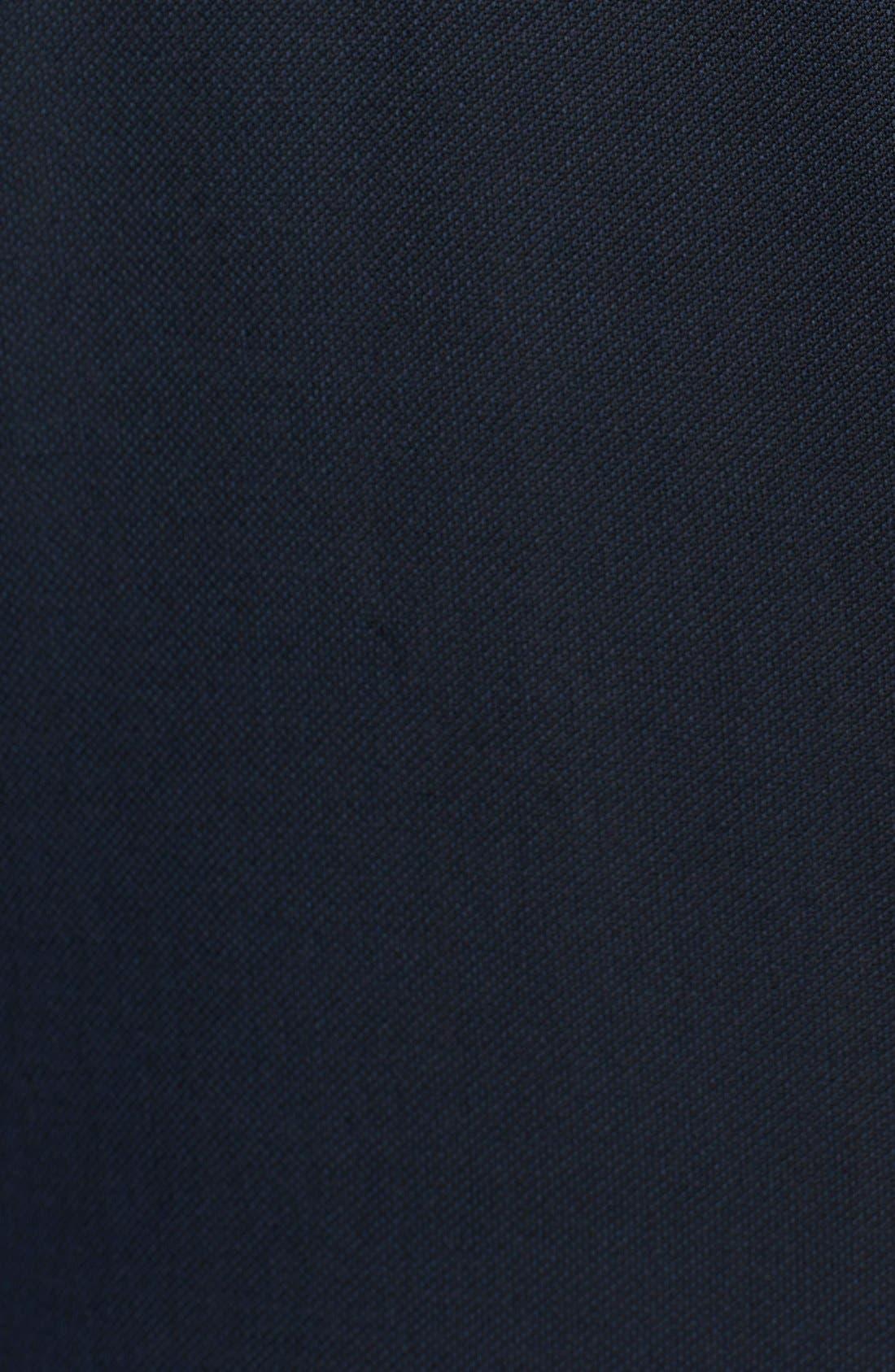Trim Fit Navy Tic Weave Wool Suit,                             Alternate thumbnail 2, color,                             412