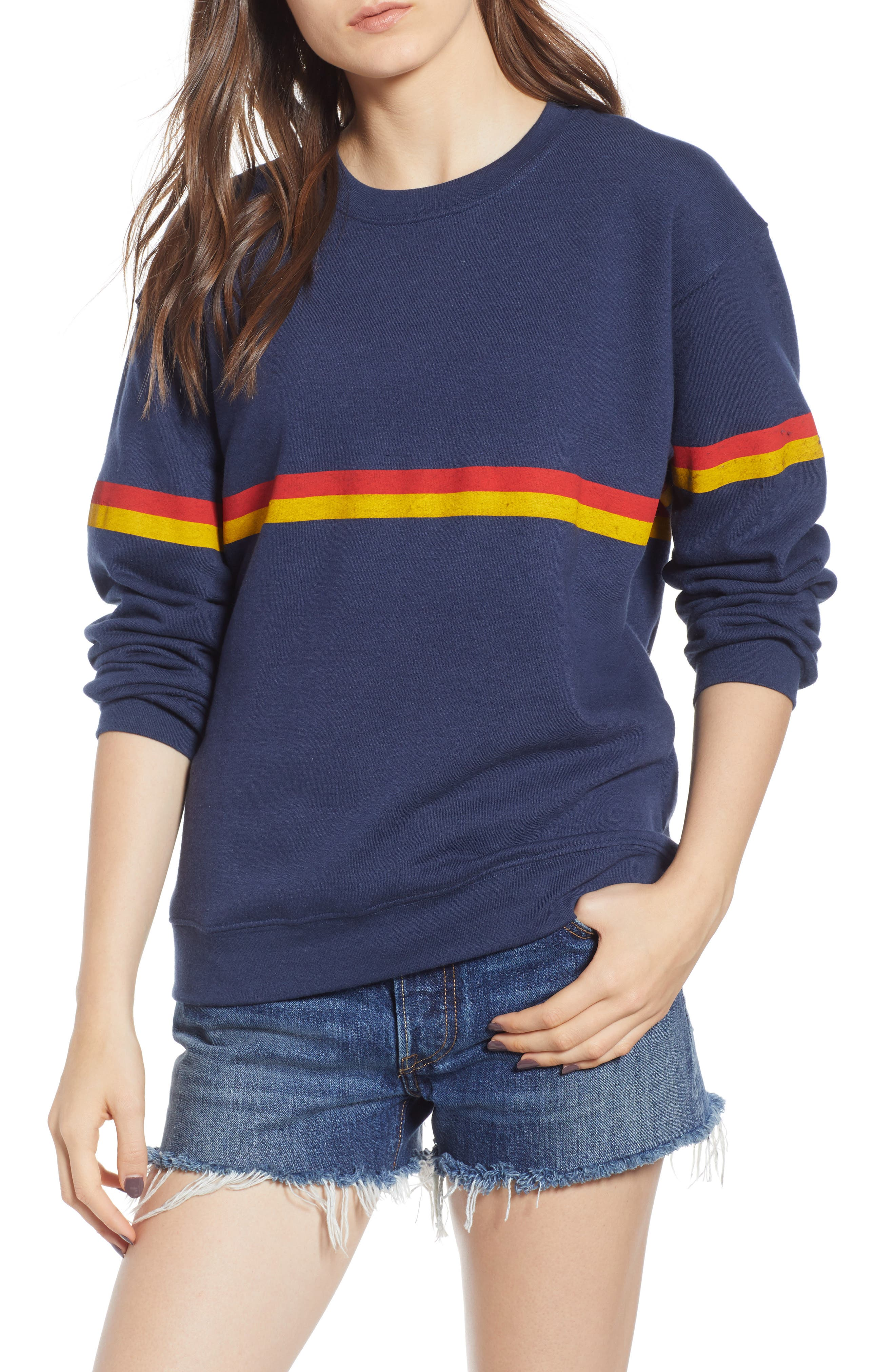 Zelda Willow Stripe Sweatshirt,                             Main thumbnail 1, color,                             410