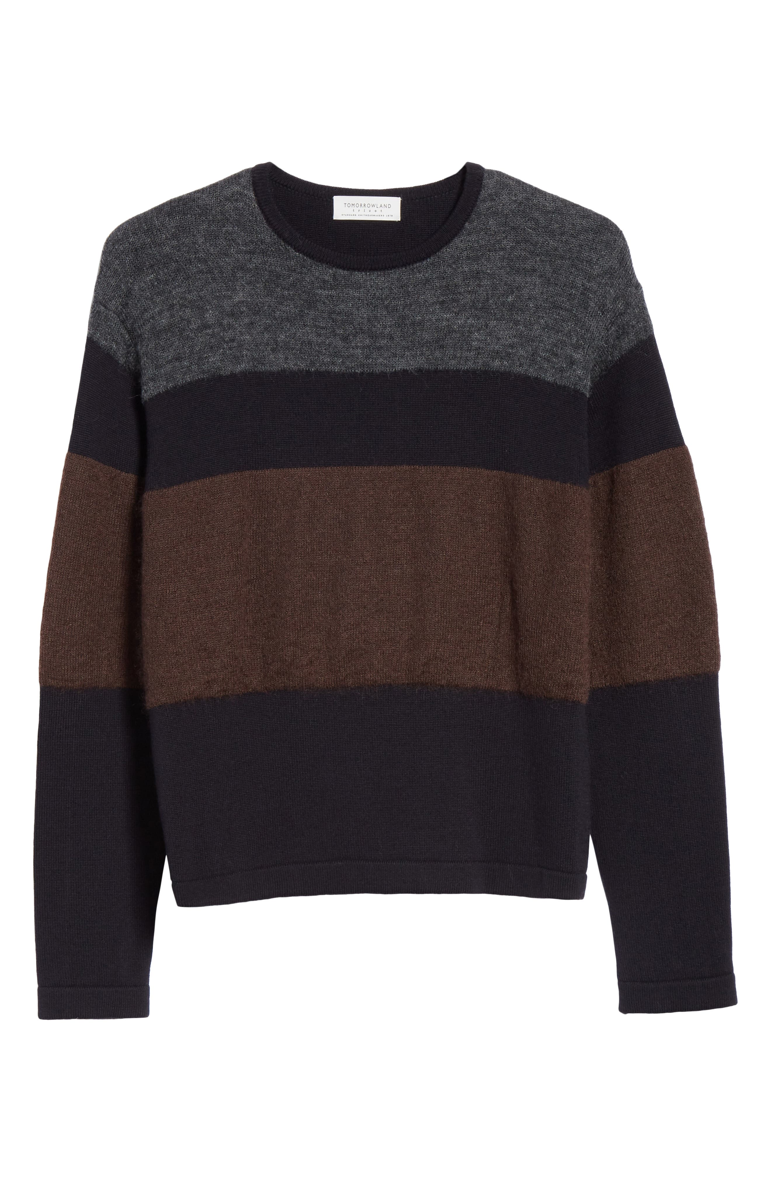 Stripe Sweater,                             Alternate thumbnail 6, color,                             NAVY