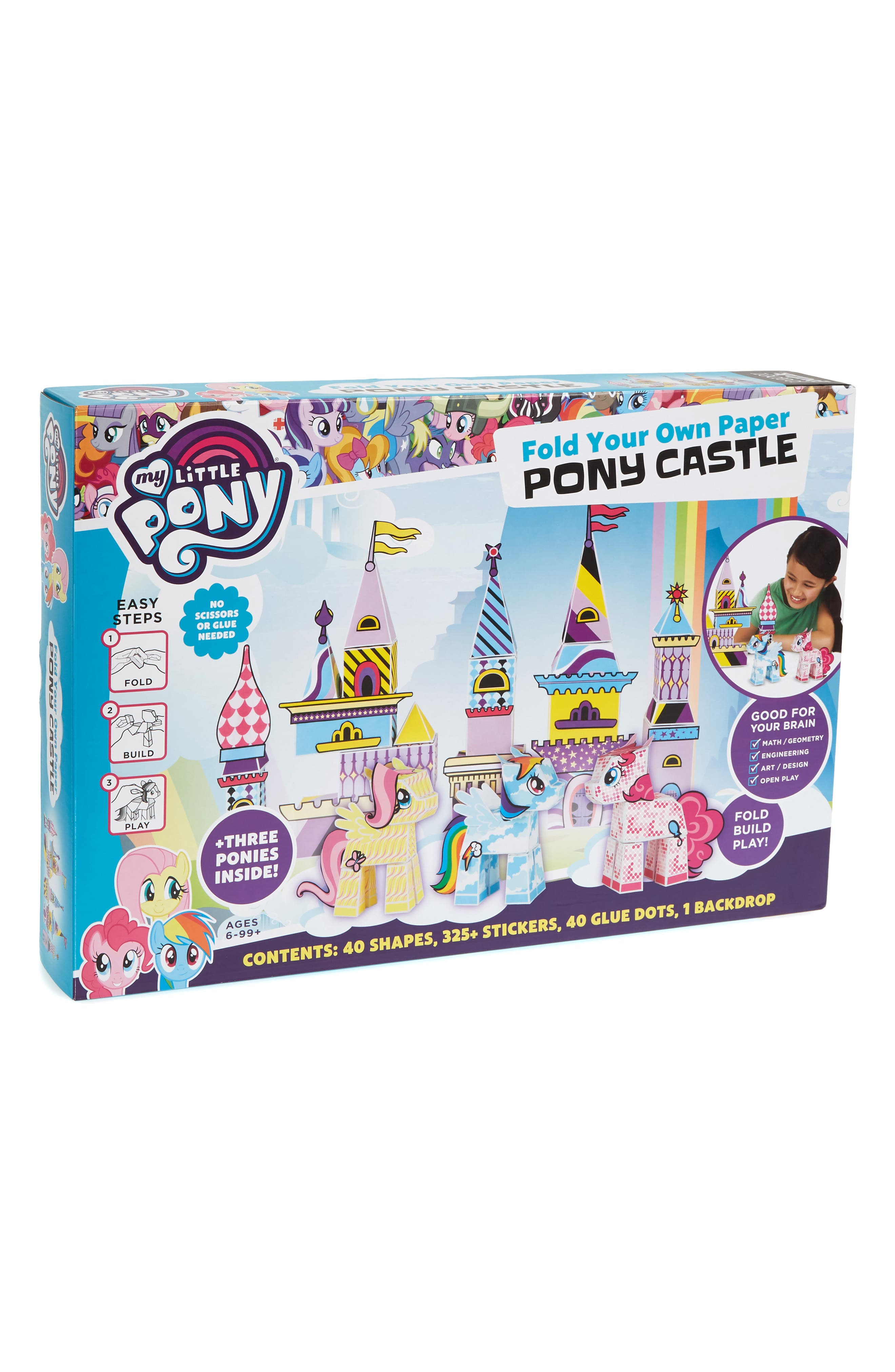 My Little Pony Fold Your Own Paper Pony Castle Kit,                         Main,                         color, 500