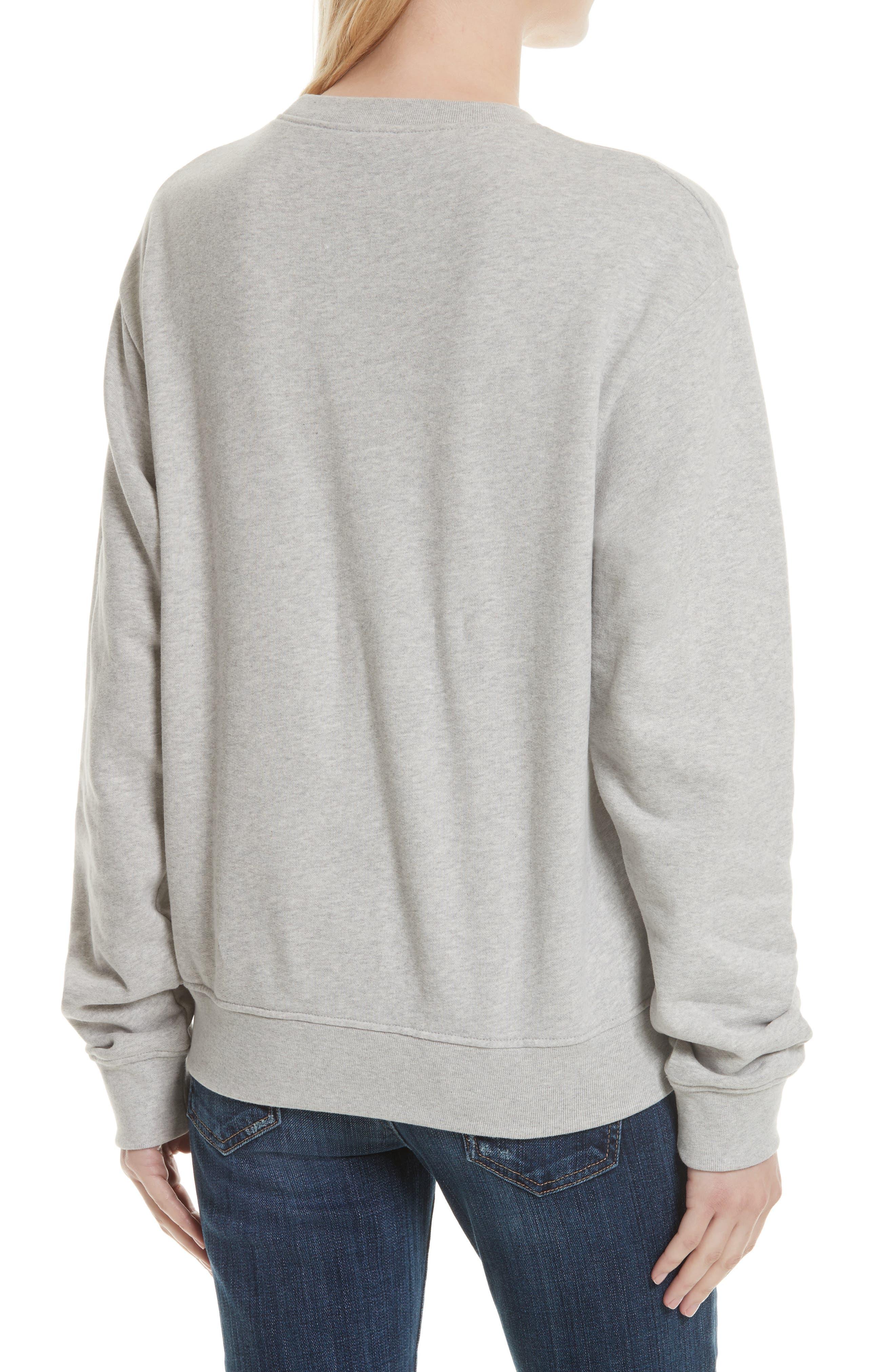 Cotton Sweatshirt,                             Alternate thumbnail 2, color,                             HEATHER GREY