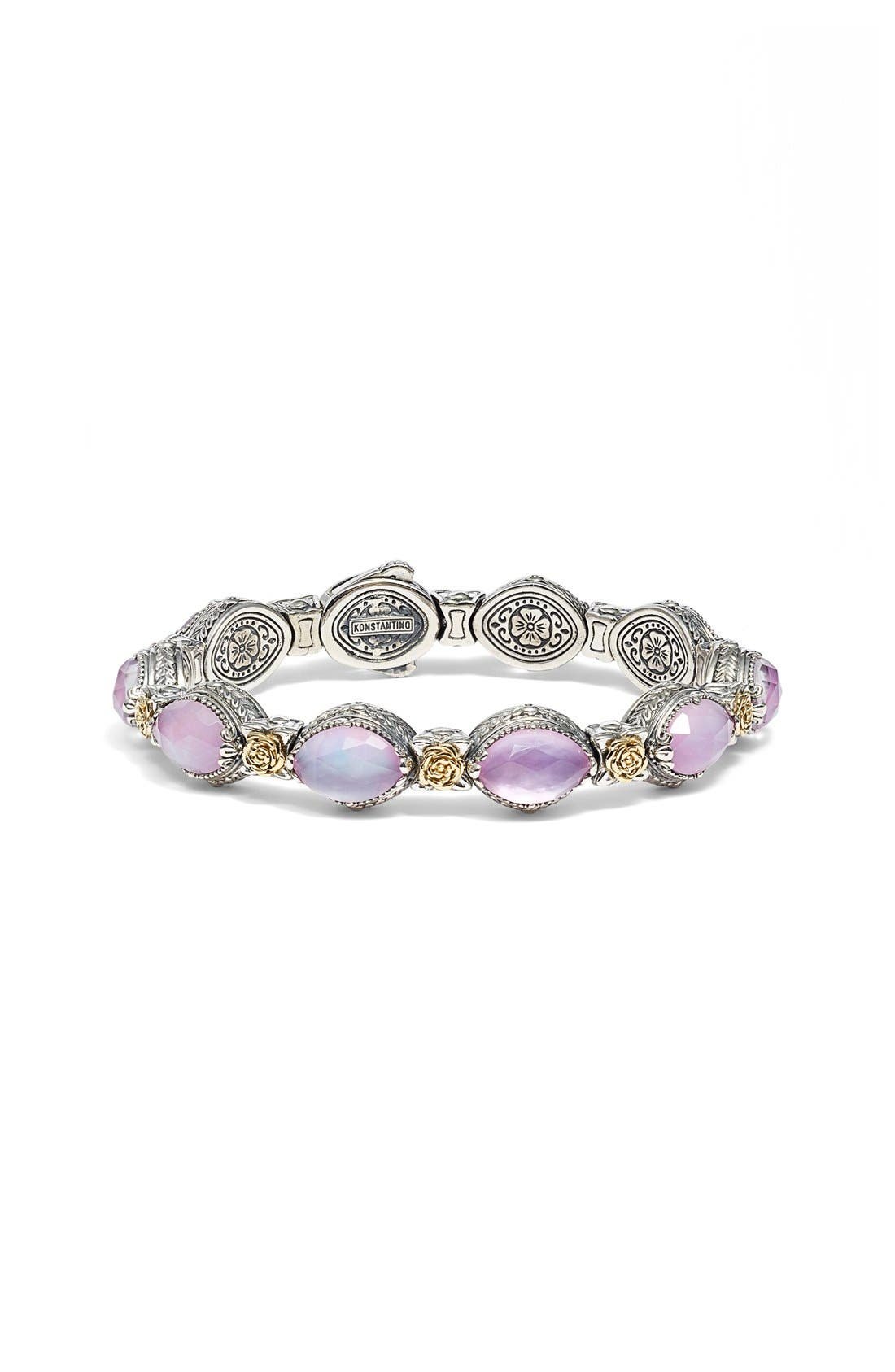 'Iliada' Stone Link Bracelet,                             Main thumbnail 1, color,                             040