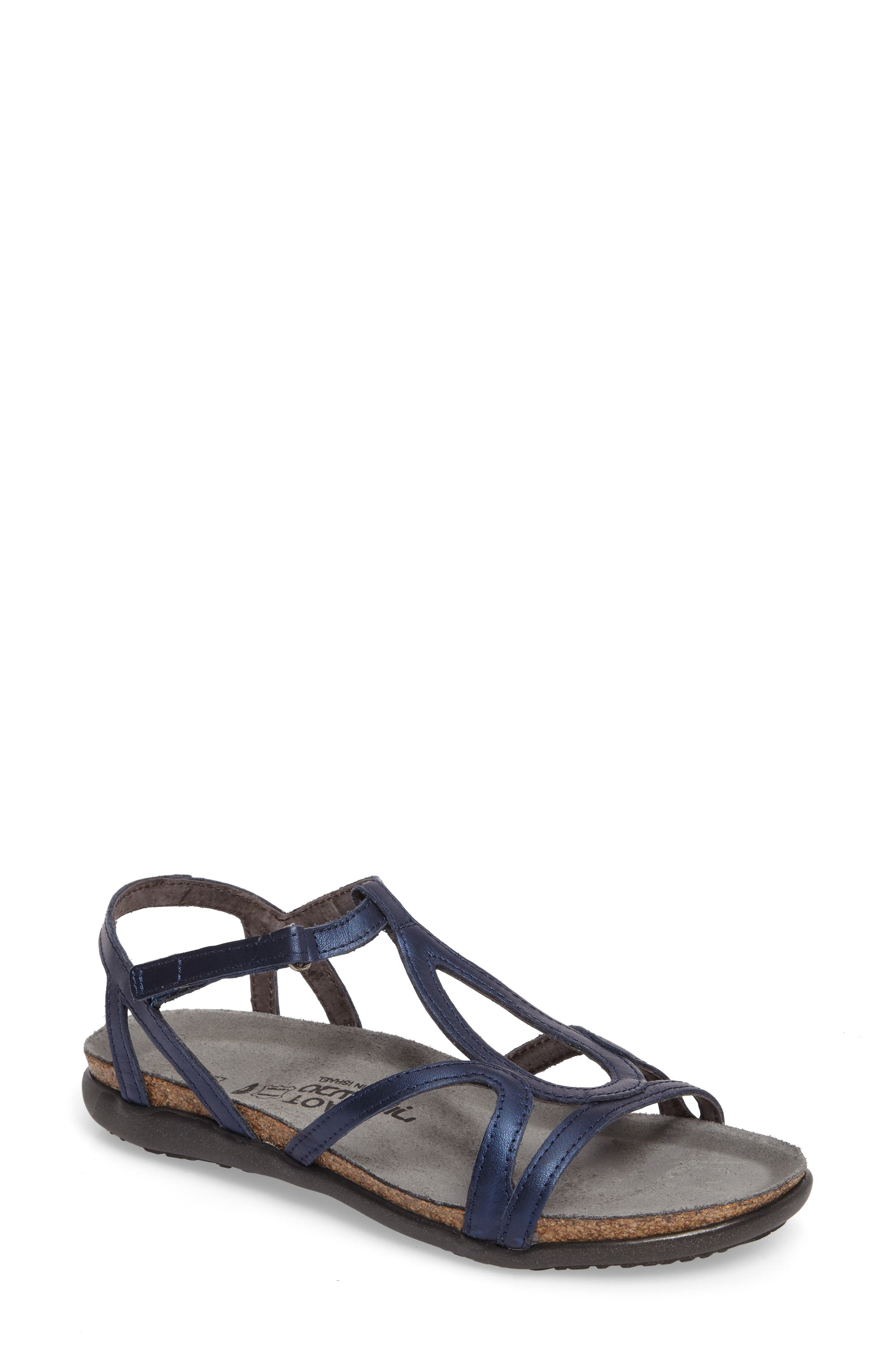 'Dorith' Sandal,                         Main,                         color, POLAR SEA LEATHER