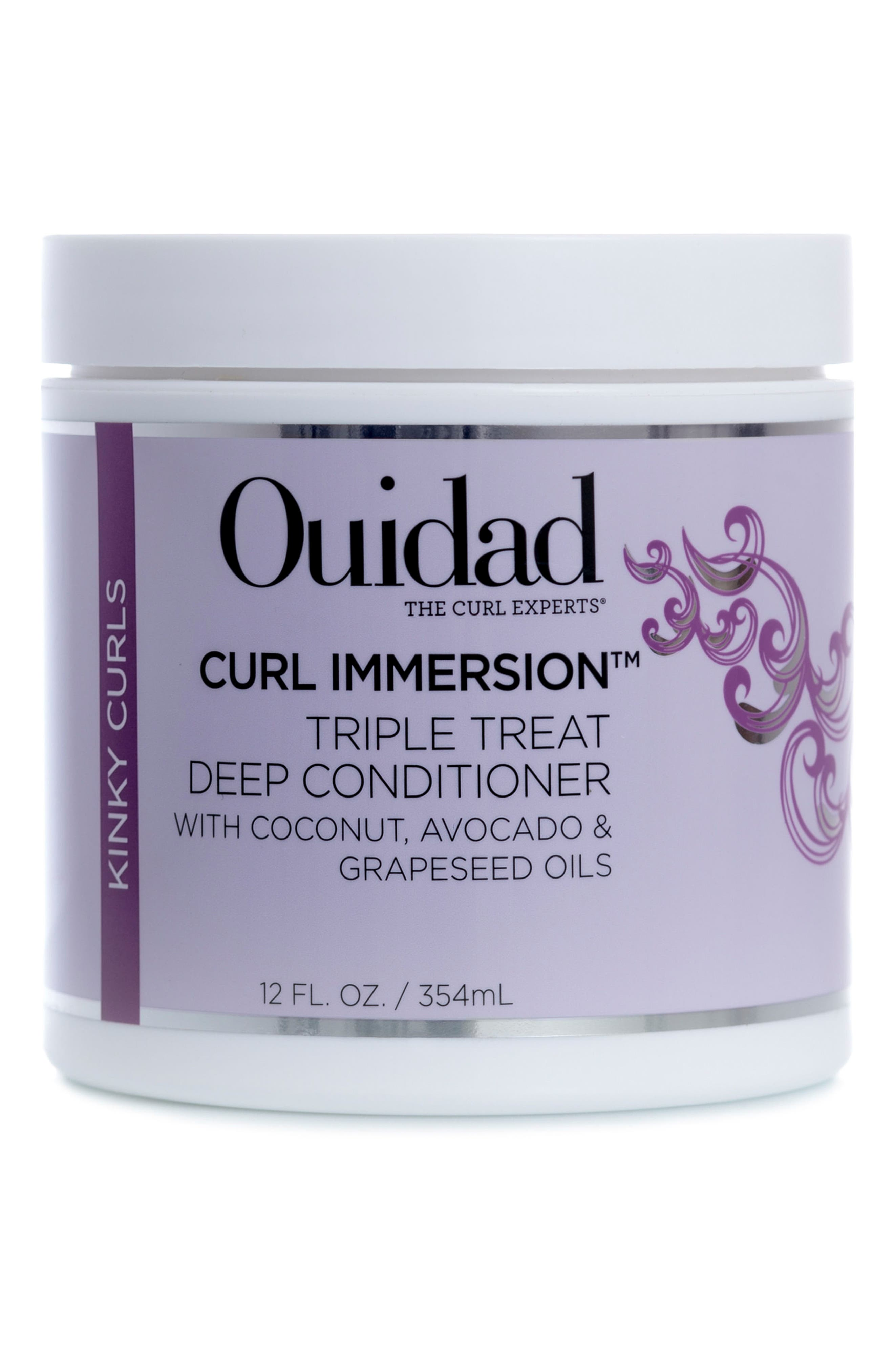 Curl Immersion<sup>™</sup> Triple Threat Deep Conditioner,                             Main thumbnail 1, color,                             000