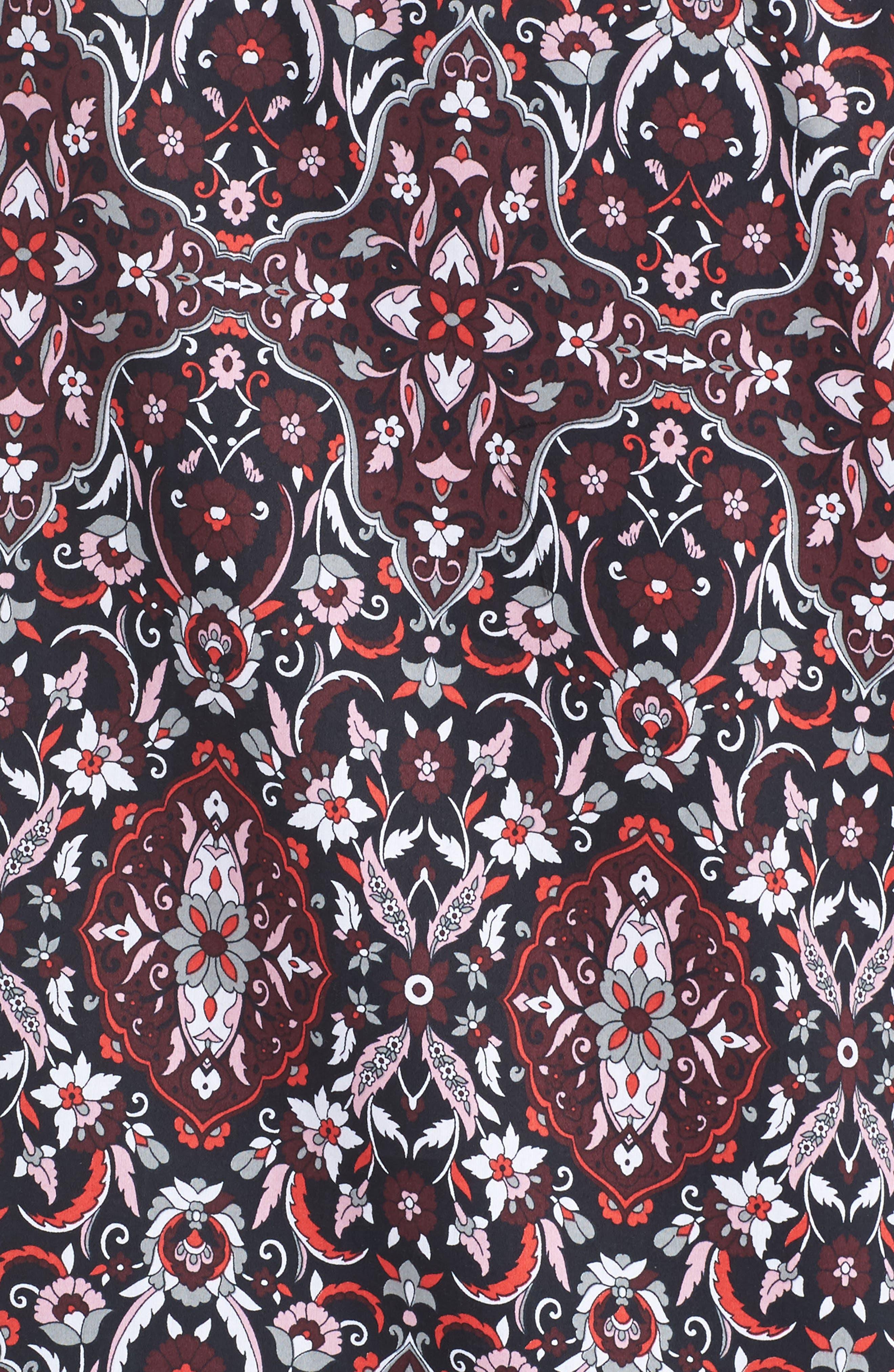 Ava Heirloom Paisley Print Cotton Shirt,                             Alternate thumbnail 5, color,                             602