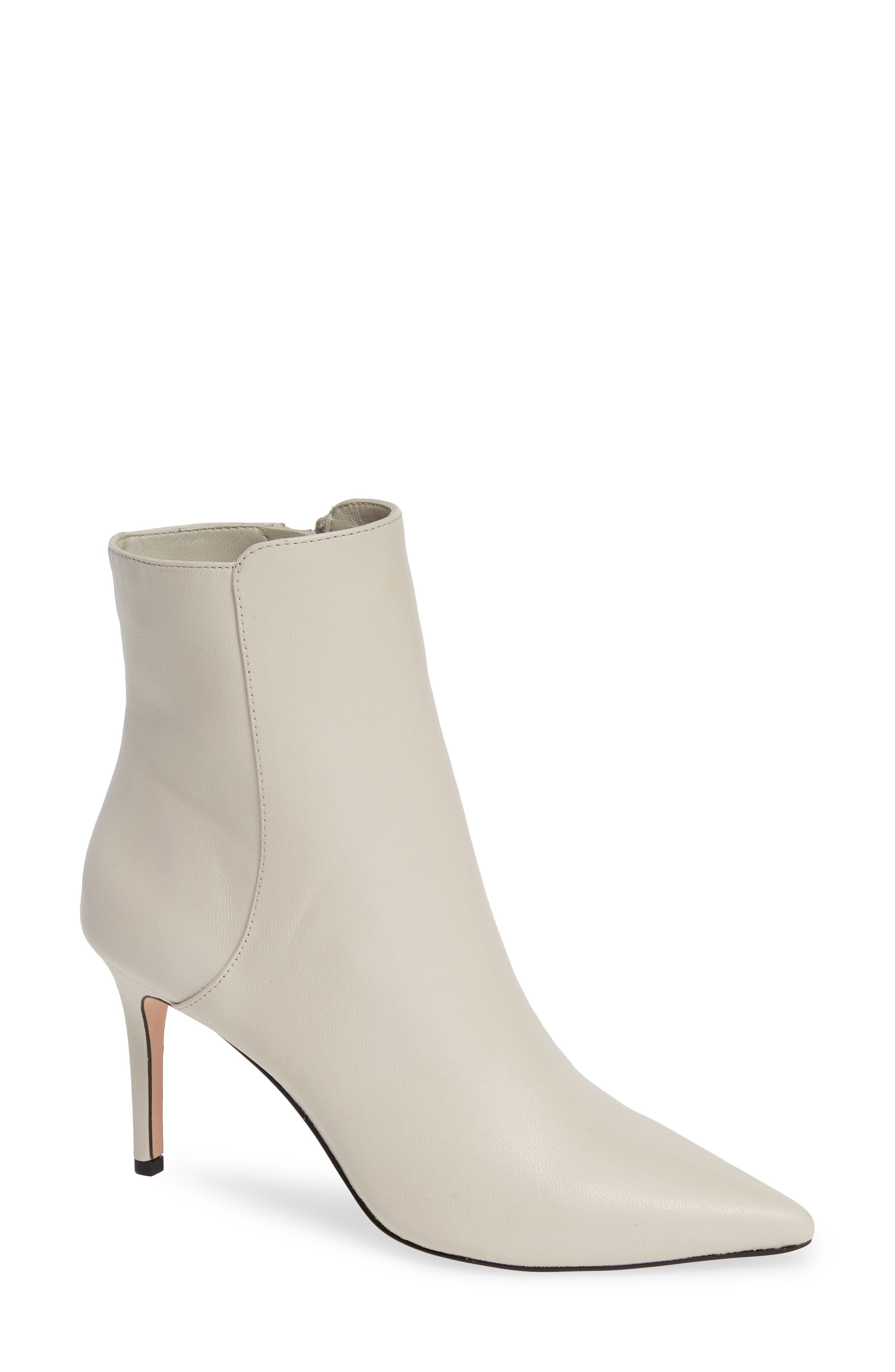Pointed Stiletto Ankle Bootie, Main, color, STONE LEATHER