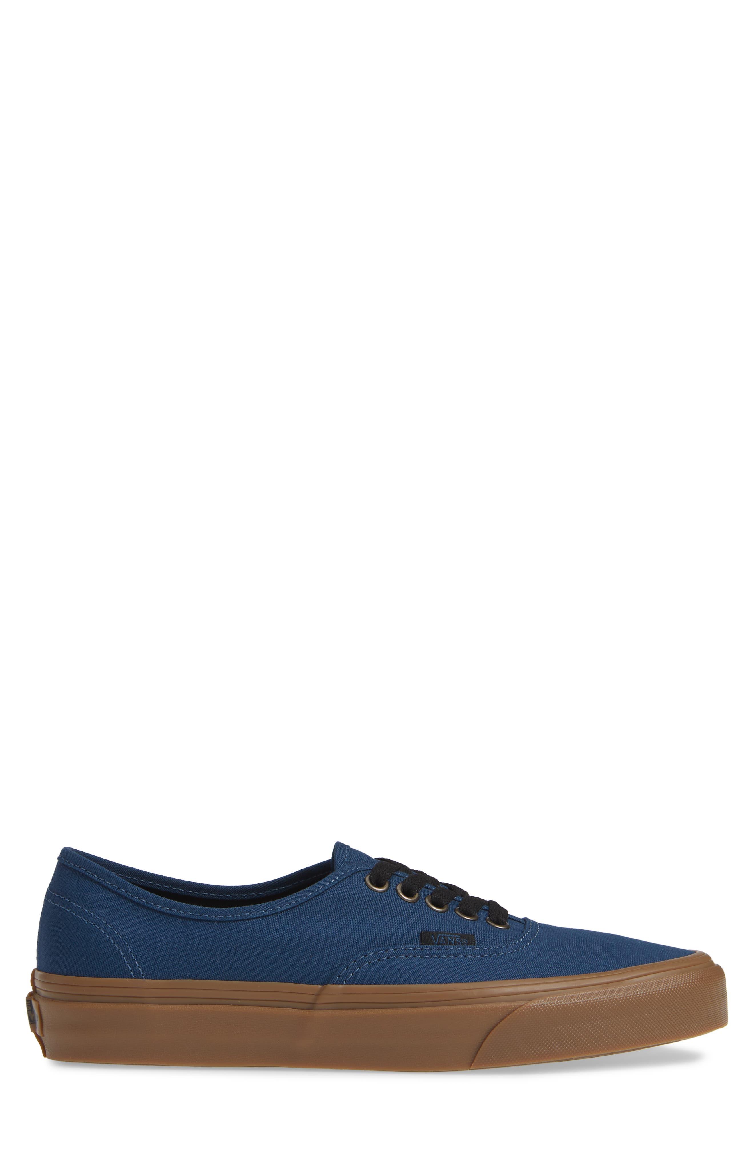 VANS,                             Authentic Gum Outsole Sneaker,                             Alternate thumbnail 3, color,                             401