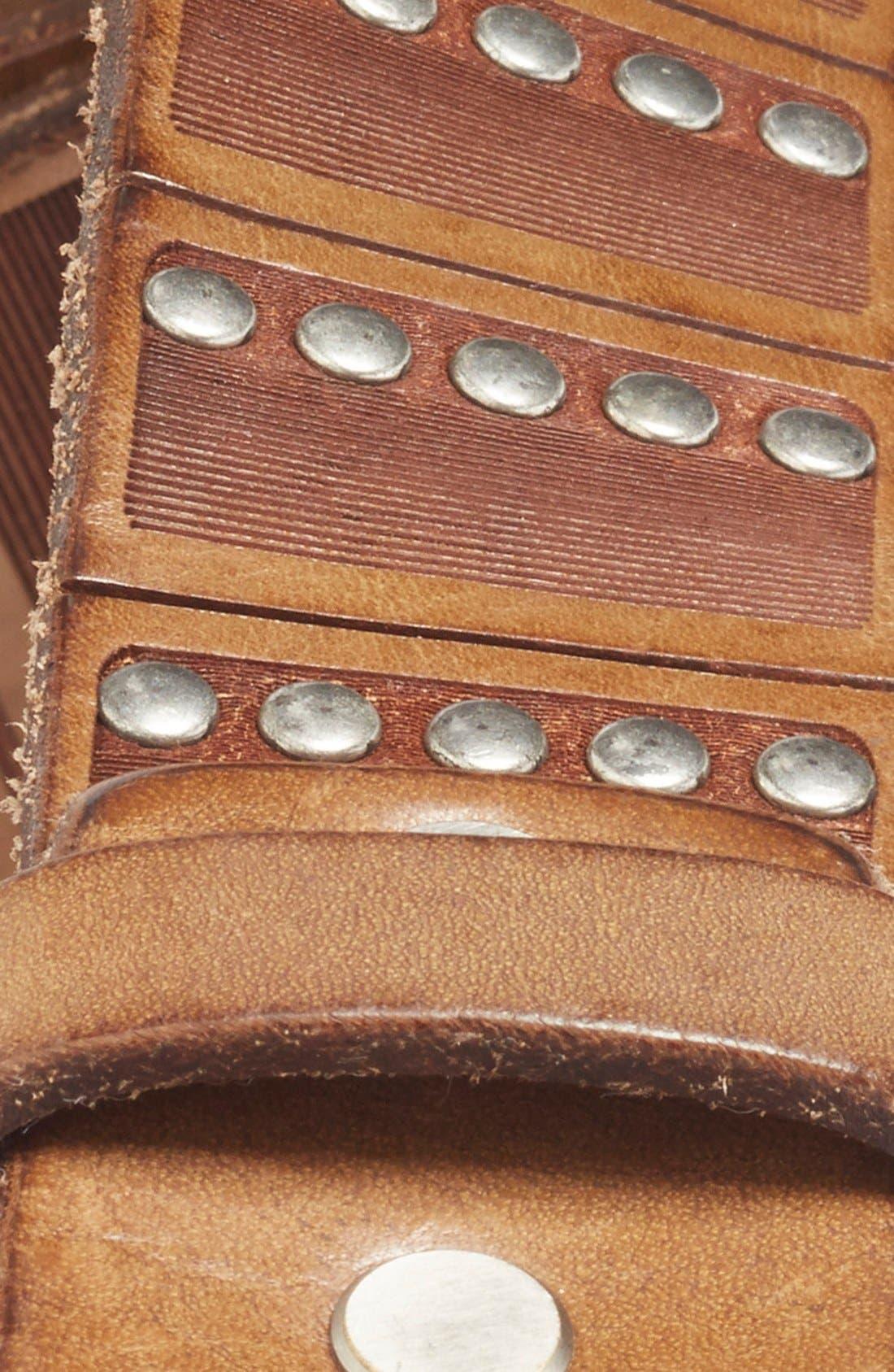 'Santino' Leather Belt,                             Alternate thumbnail 4, color,