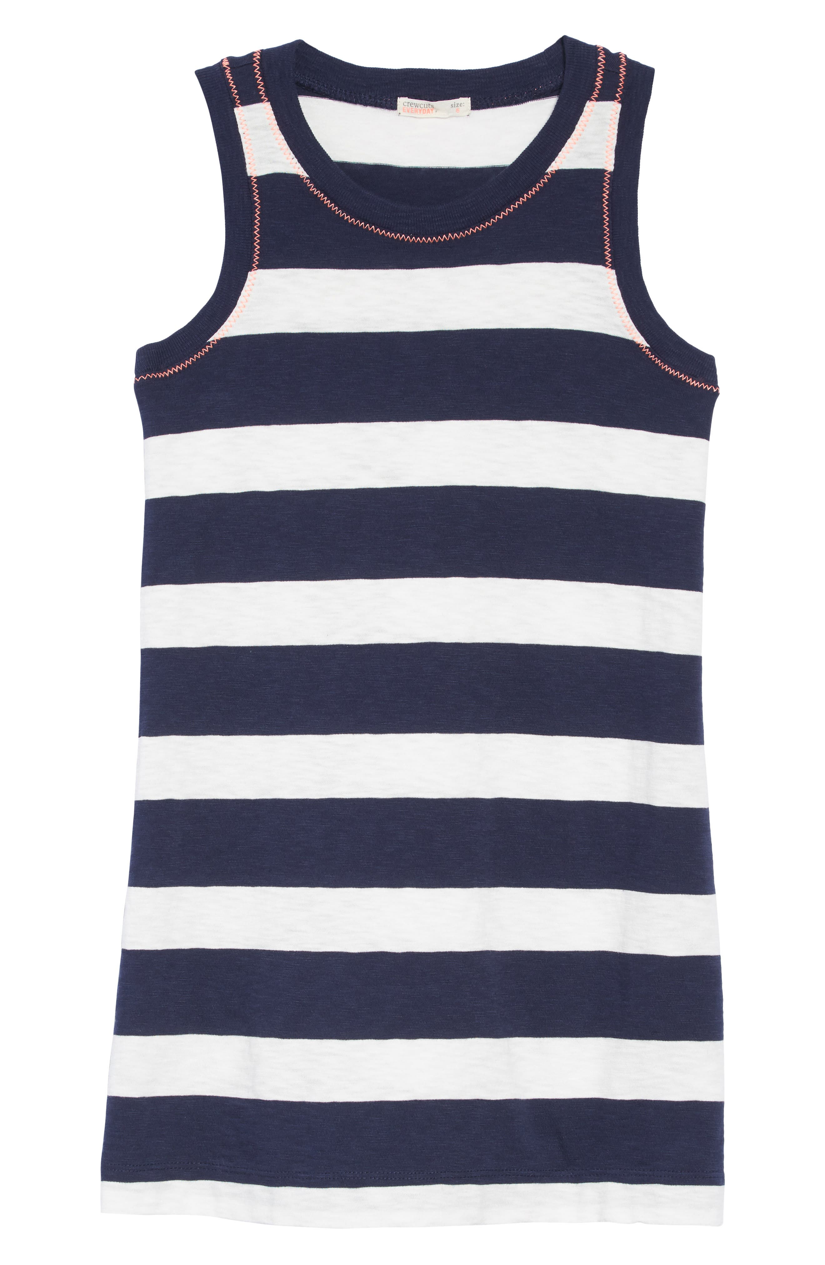 Rugby Stripe Dress,                             Main thumbnail 1, color,                             400