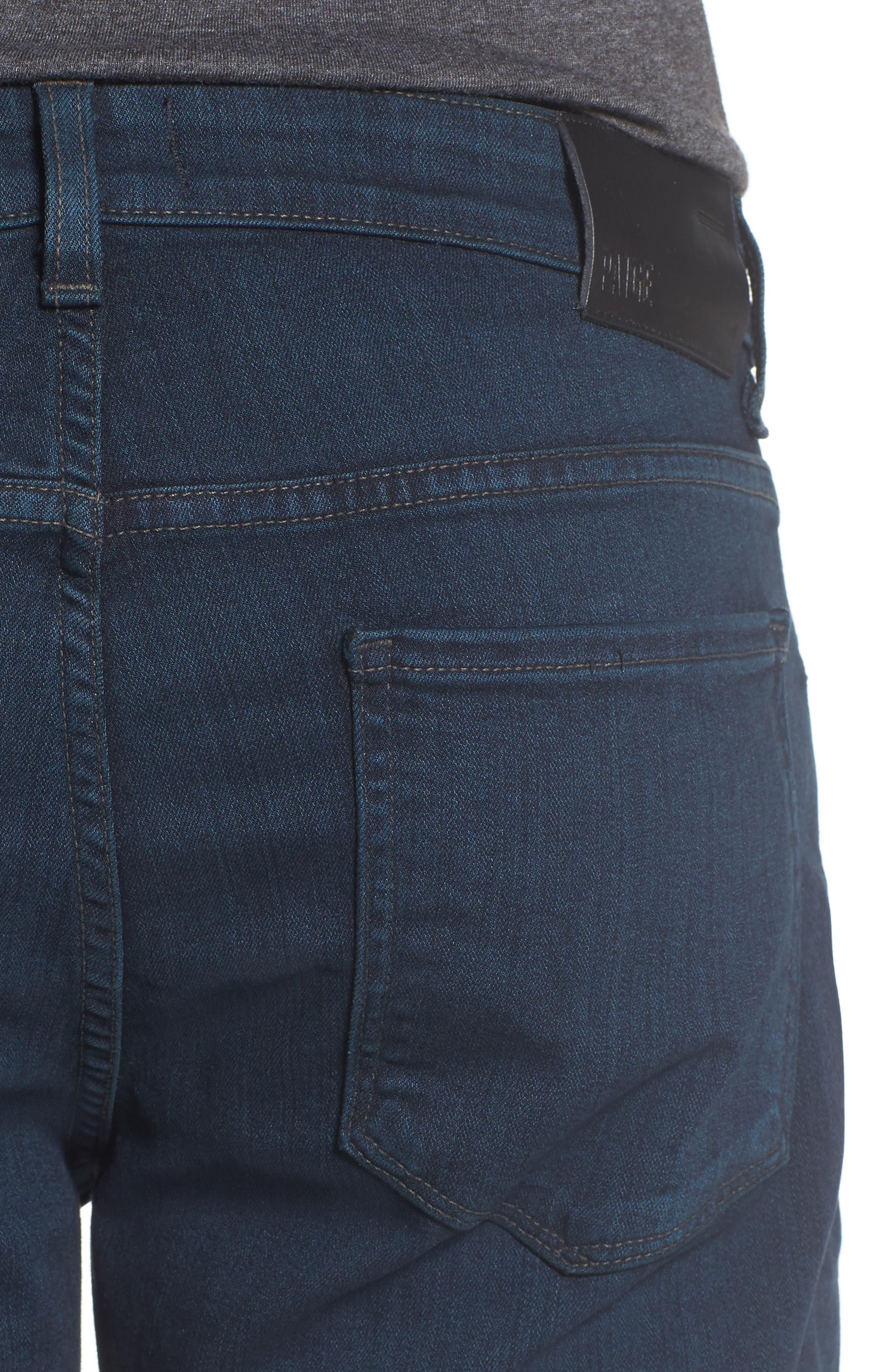 Transcend - Federal Slim Straight Leg Jeans,                             Alternate thumbnail 4, color,                             ARLO