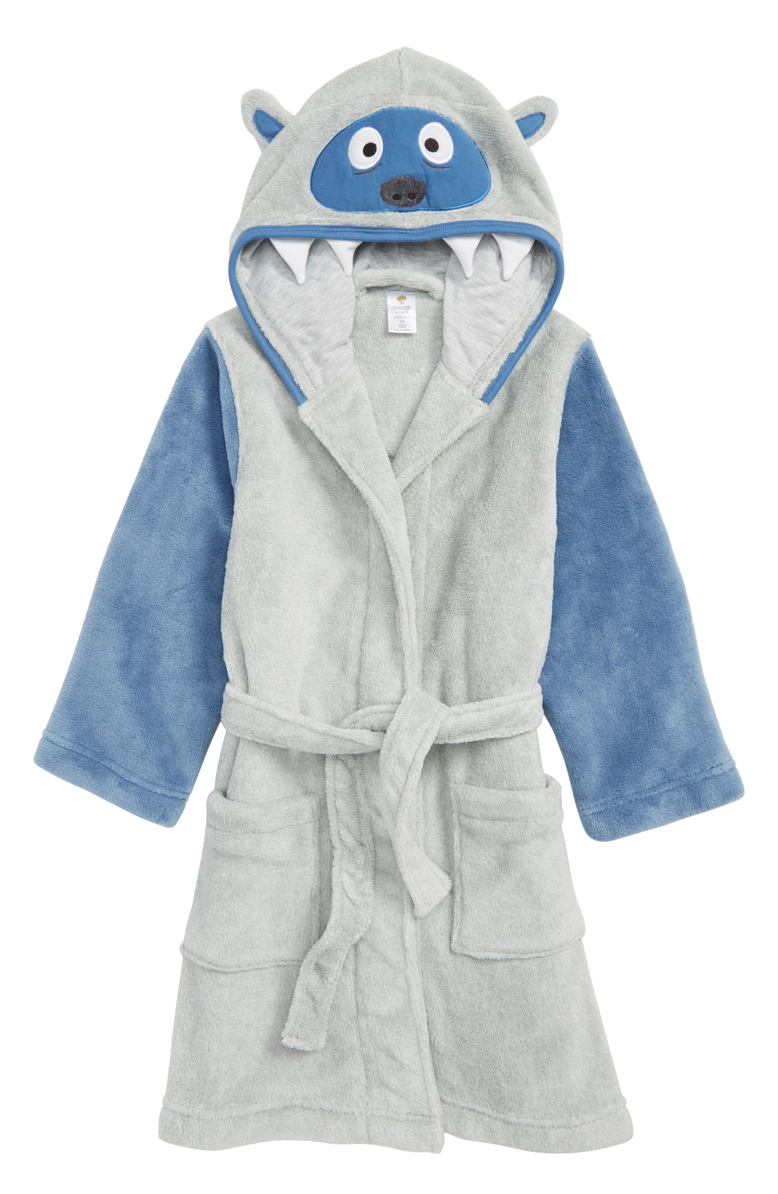 Monster Plush Robe,                         Main,                         color, GREY ASH HEATHER YETI