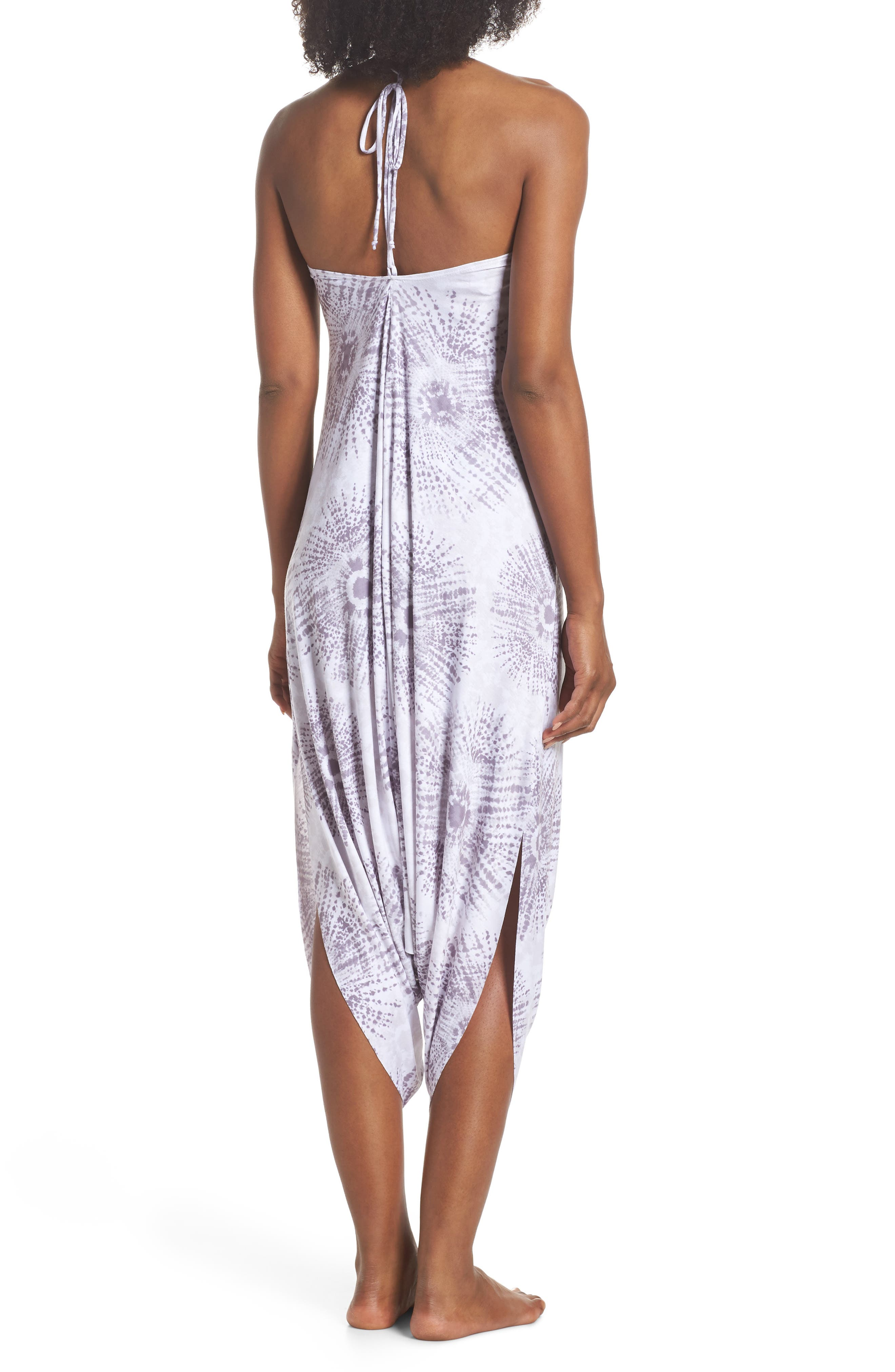 Tica Cover-Up Halter Jumpsuit,                             Alternate thumbnail 2, color,                             GRAY