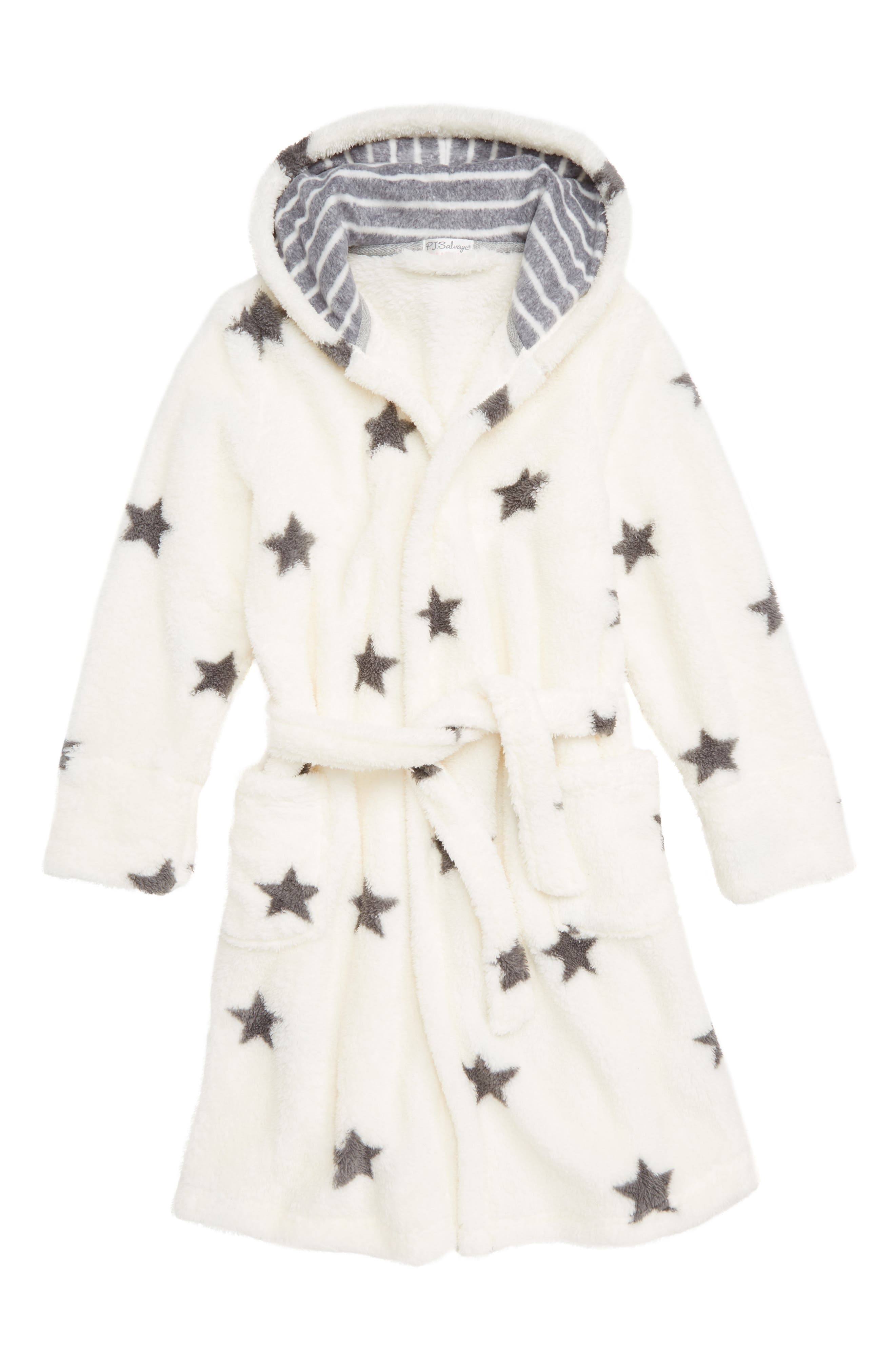 Starry Night Plush Robe,                         Main,                         color, NATURAL