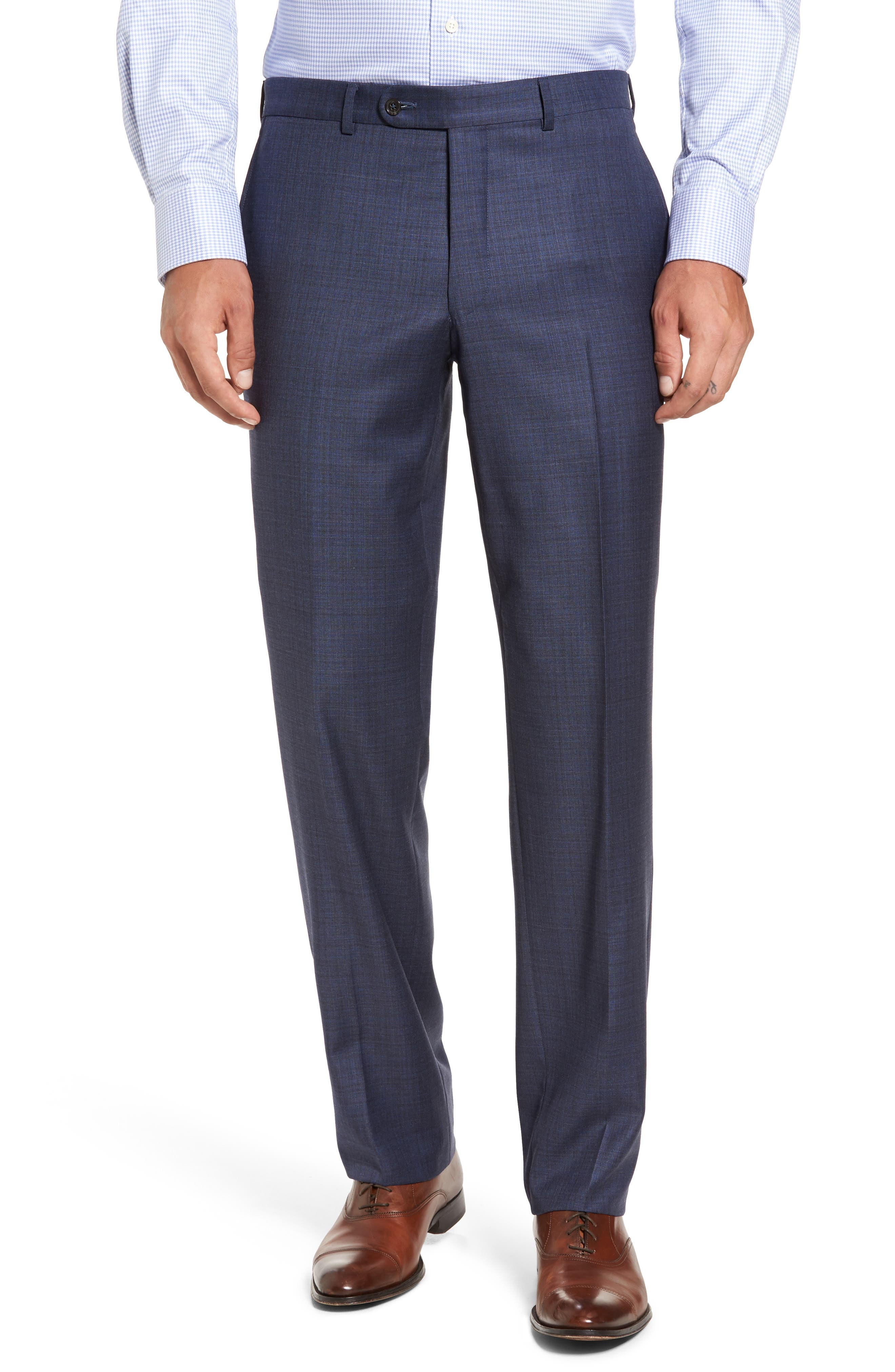 Ryan Classic Fit Check Wool Suit,                             Alternate thumbnail 6, color,                             420