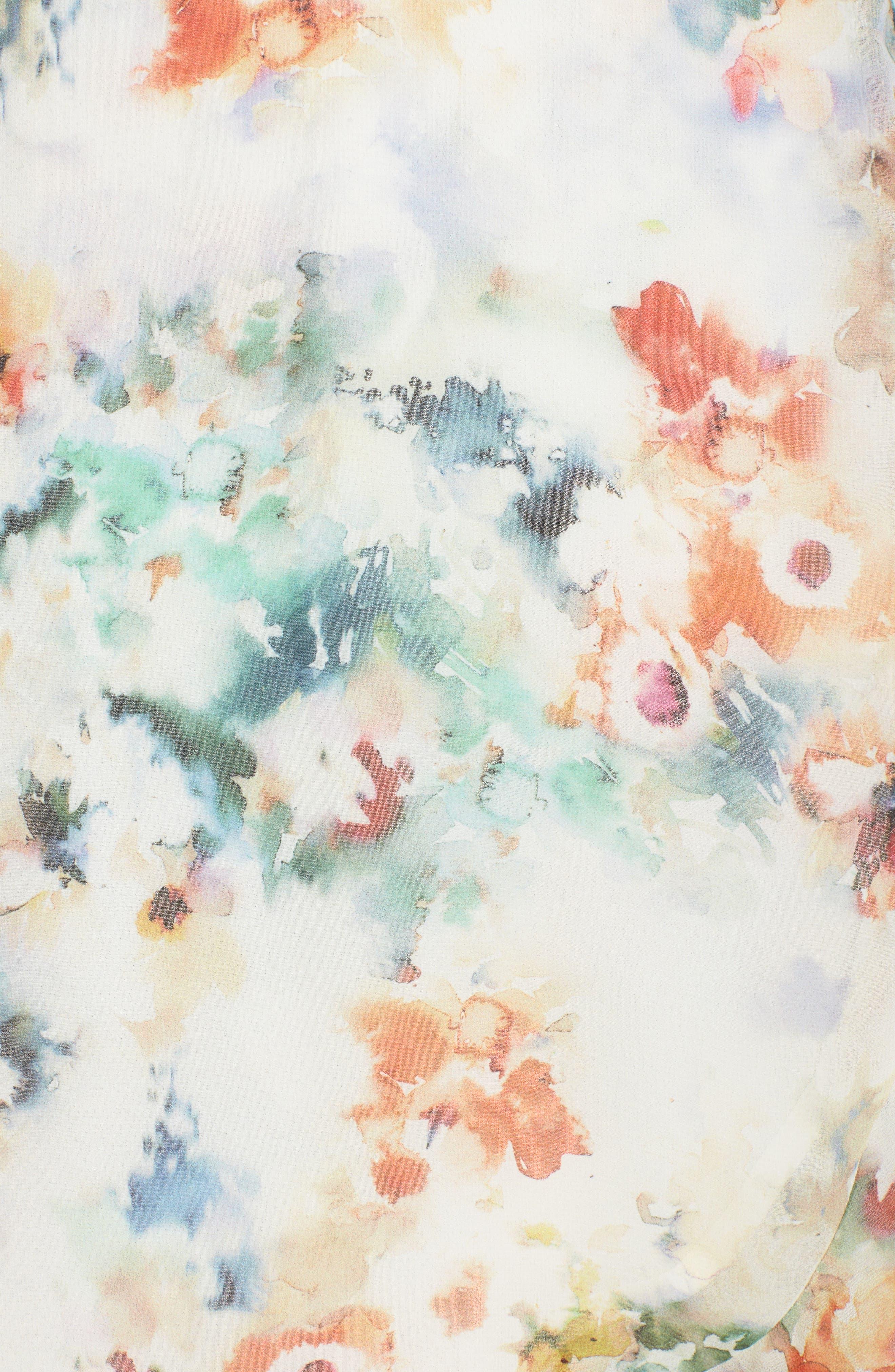 Floral Wrap Dress,                             Alternate thumbnail 7, color,