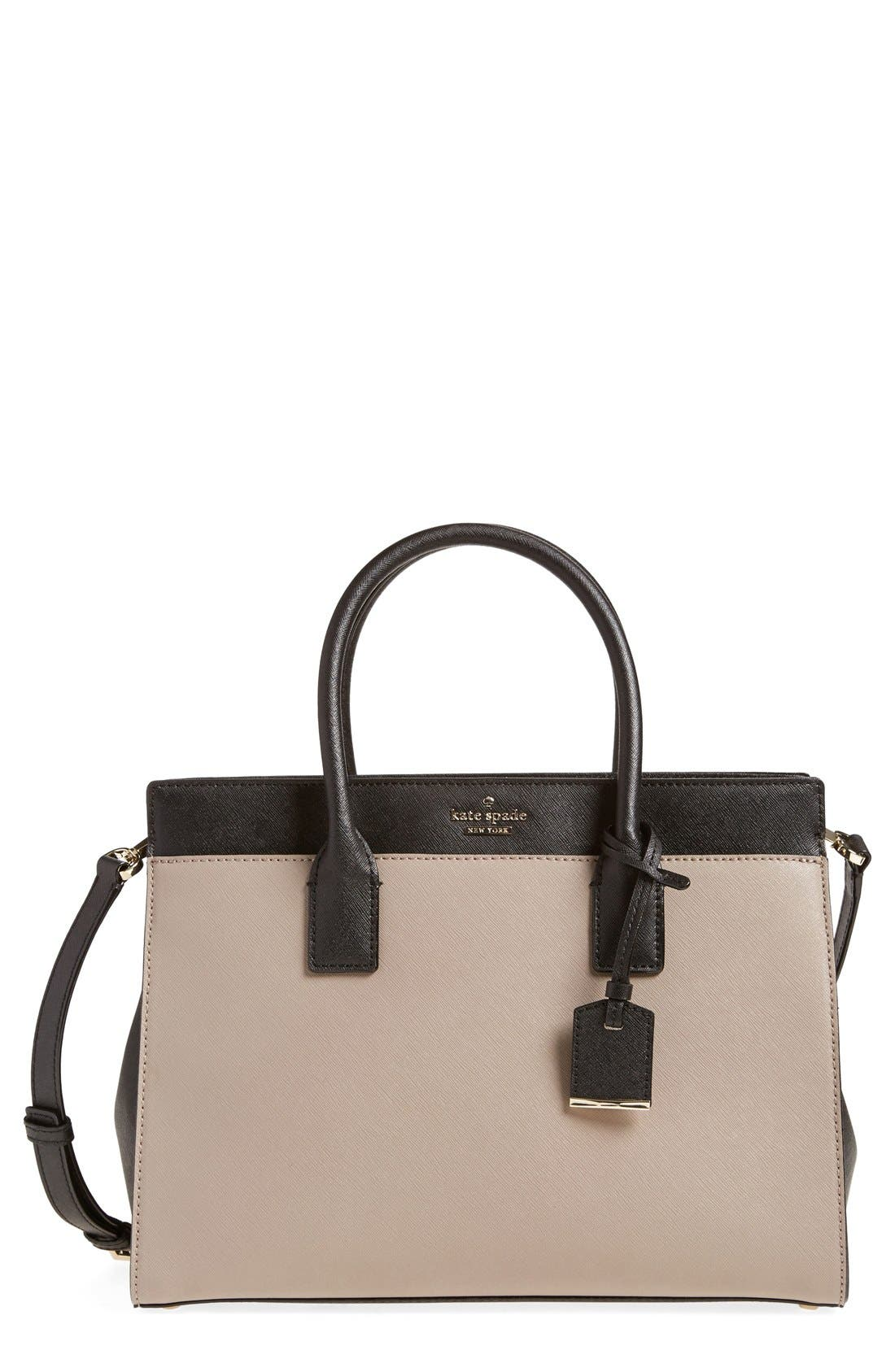 cameron street - candace leather satchel,                             Main thumbnail 9, color,