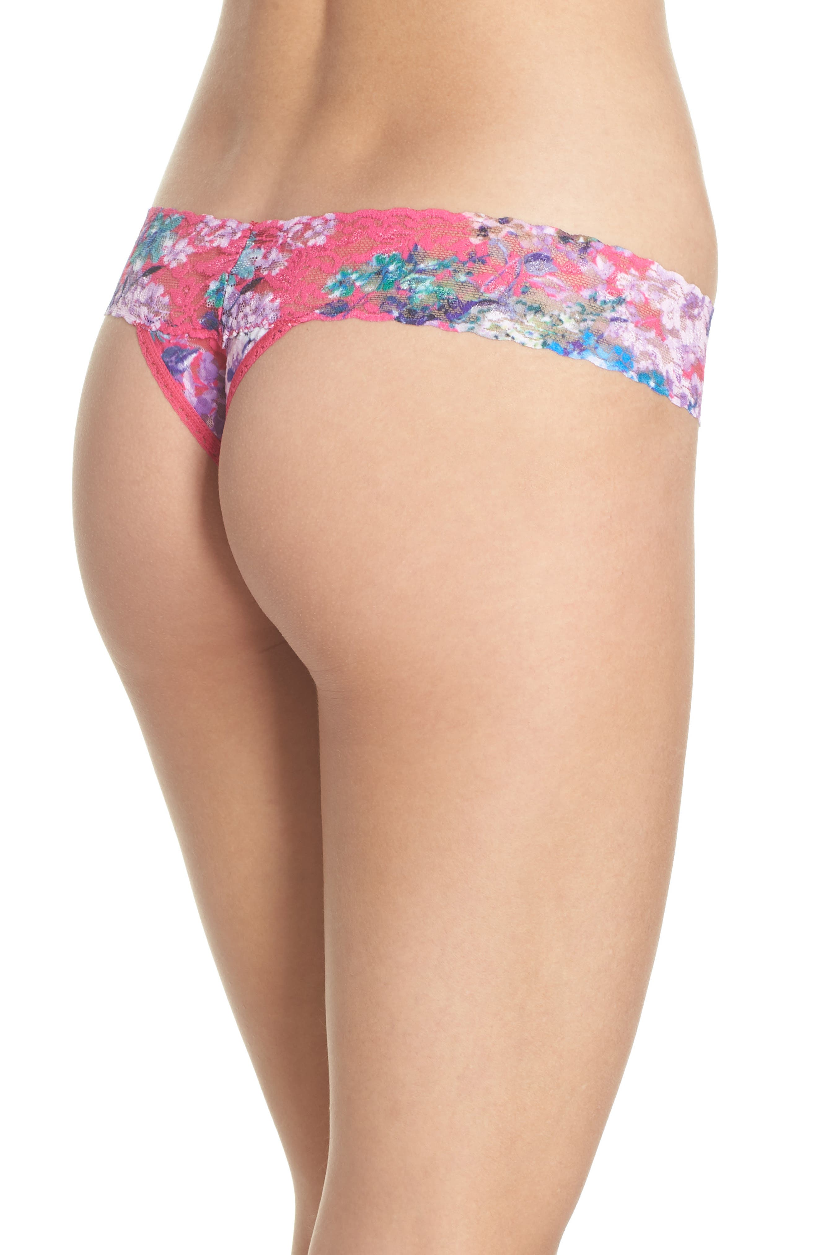Print Low Rise Thong,                             Alternate thumbnail 32, color,