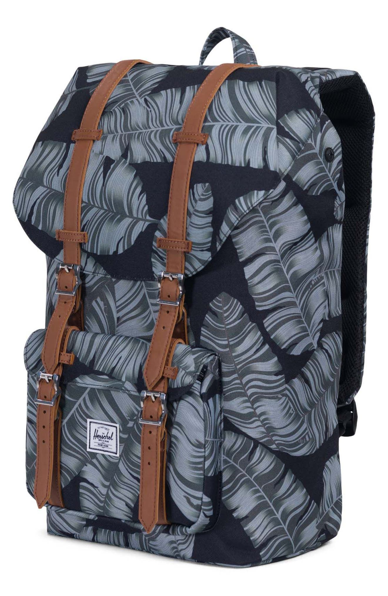 Little America Palm Print Backpack,                             Alternate thumbnail 3, color,                             300